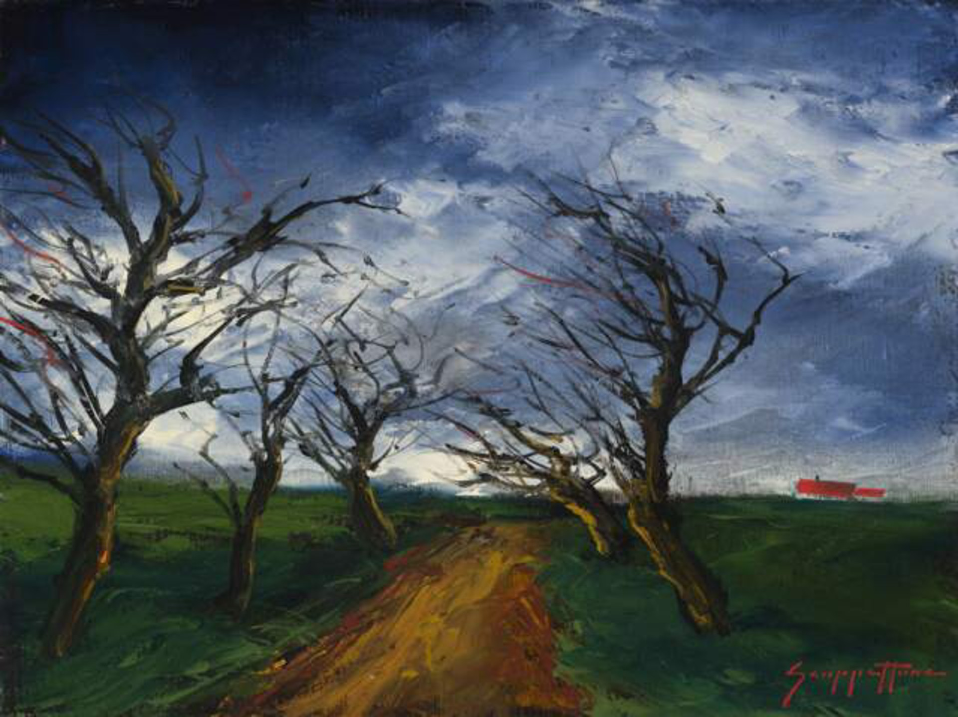 Windswept Trees by James Scoppettone