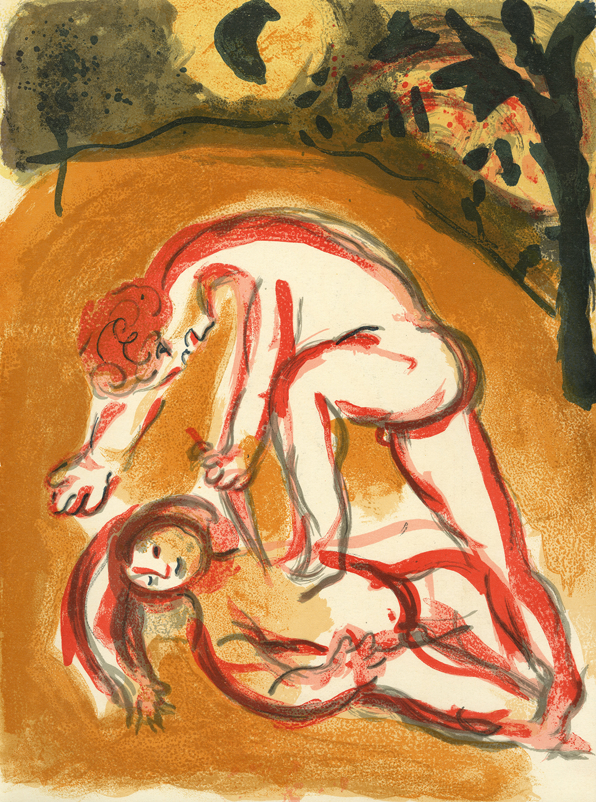 Caïn et Abel (Cain and Abel), M 238/261 by Marc Chagall