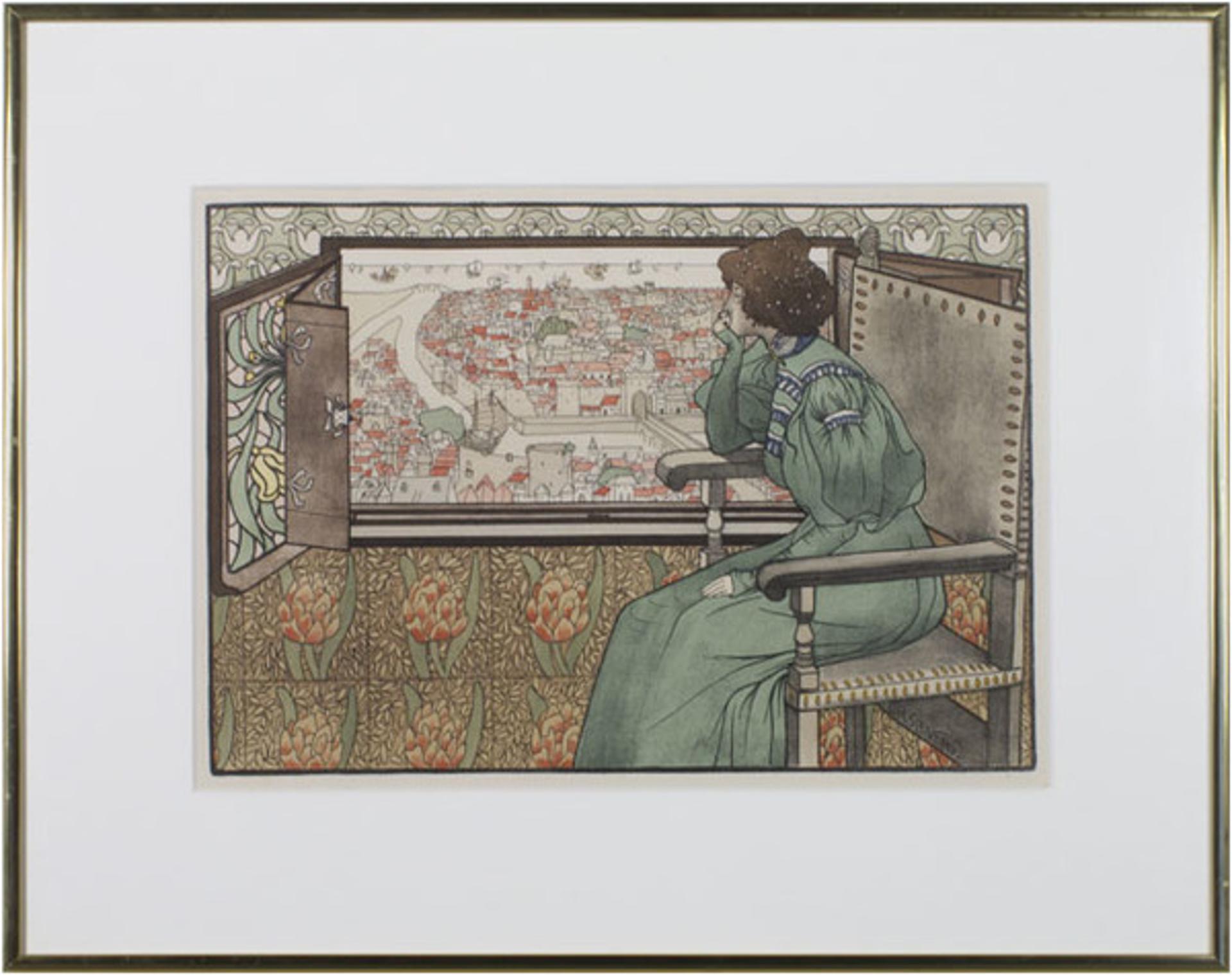 Solveig L'Estampe Moderne I by Gustav Max Stevens