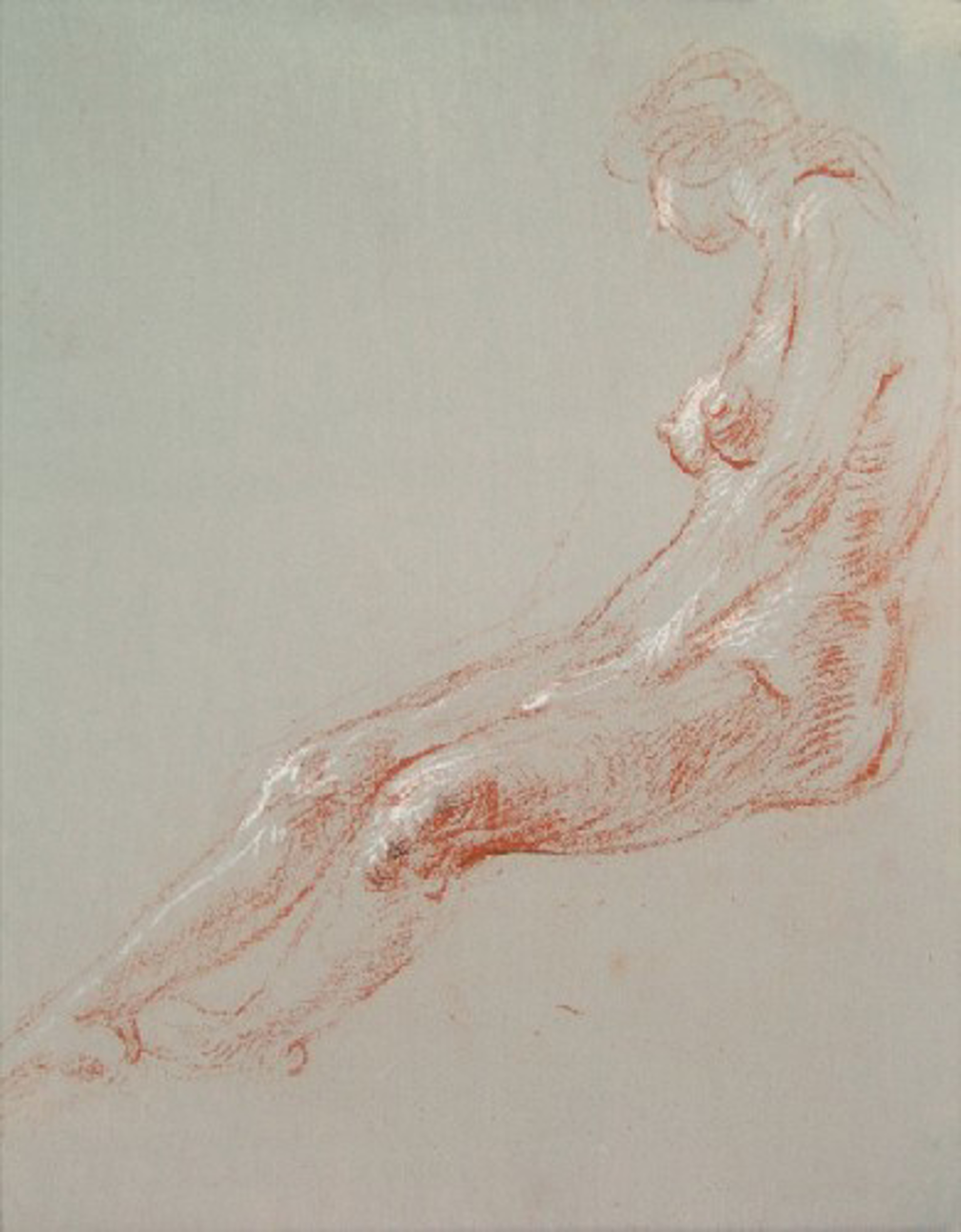 Seated Female Figure, Side View by Frank Mason (1921 - 2009)