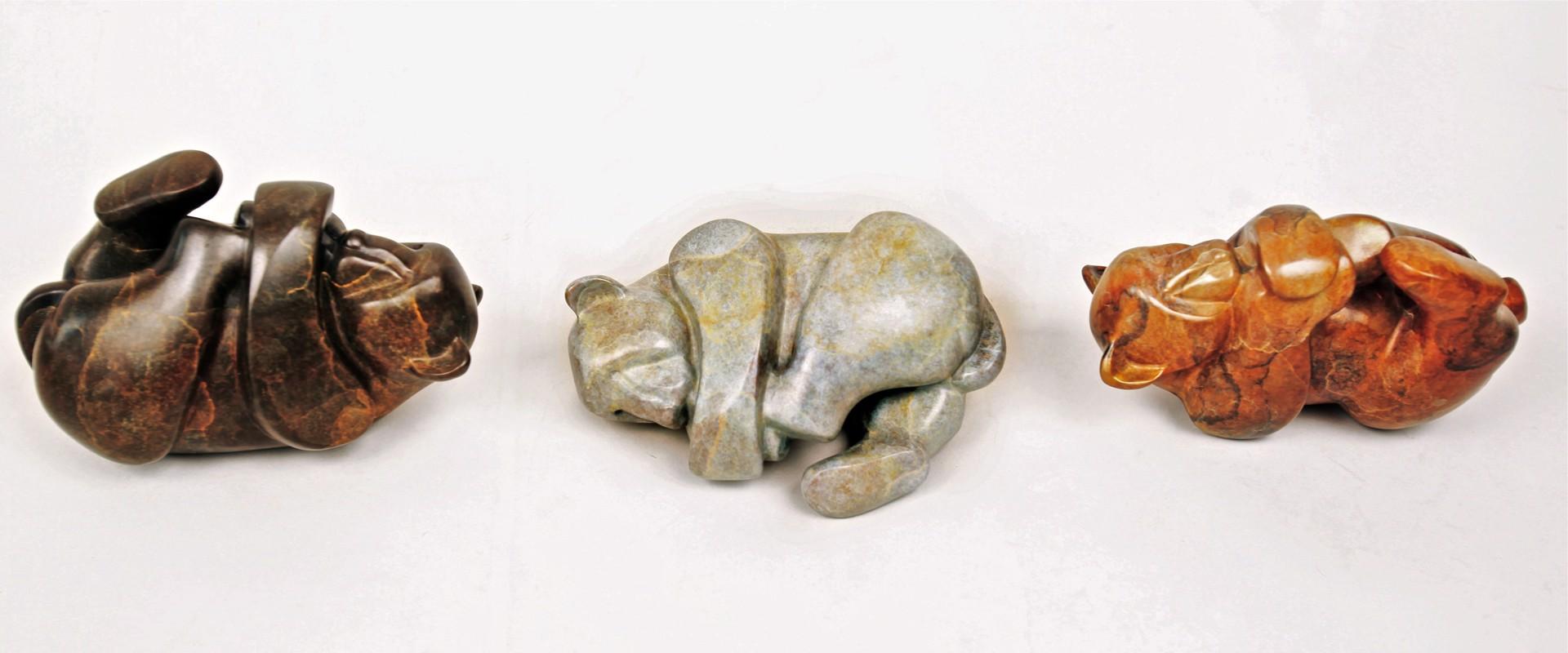 Little Worries I, II, III (each) by Mark Yale Harris