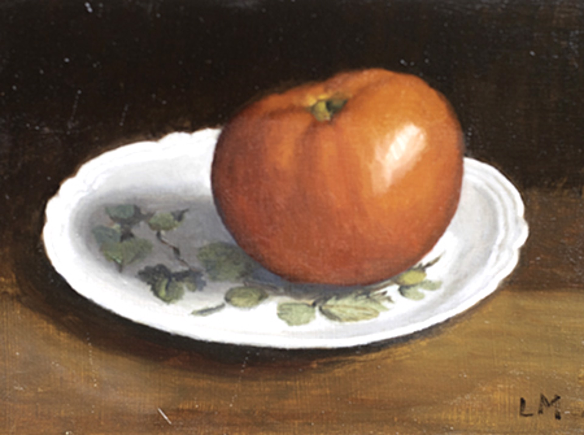 Tomato on Limoges Plate by Laura Murphey