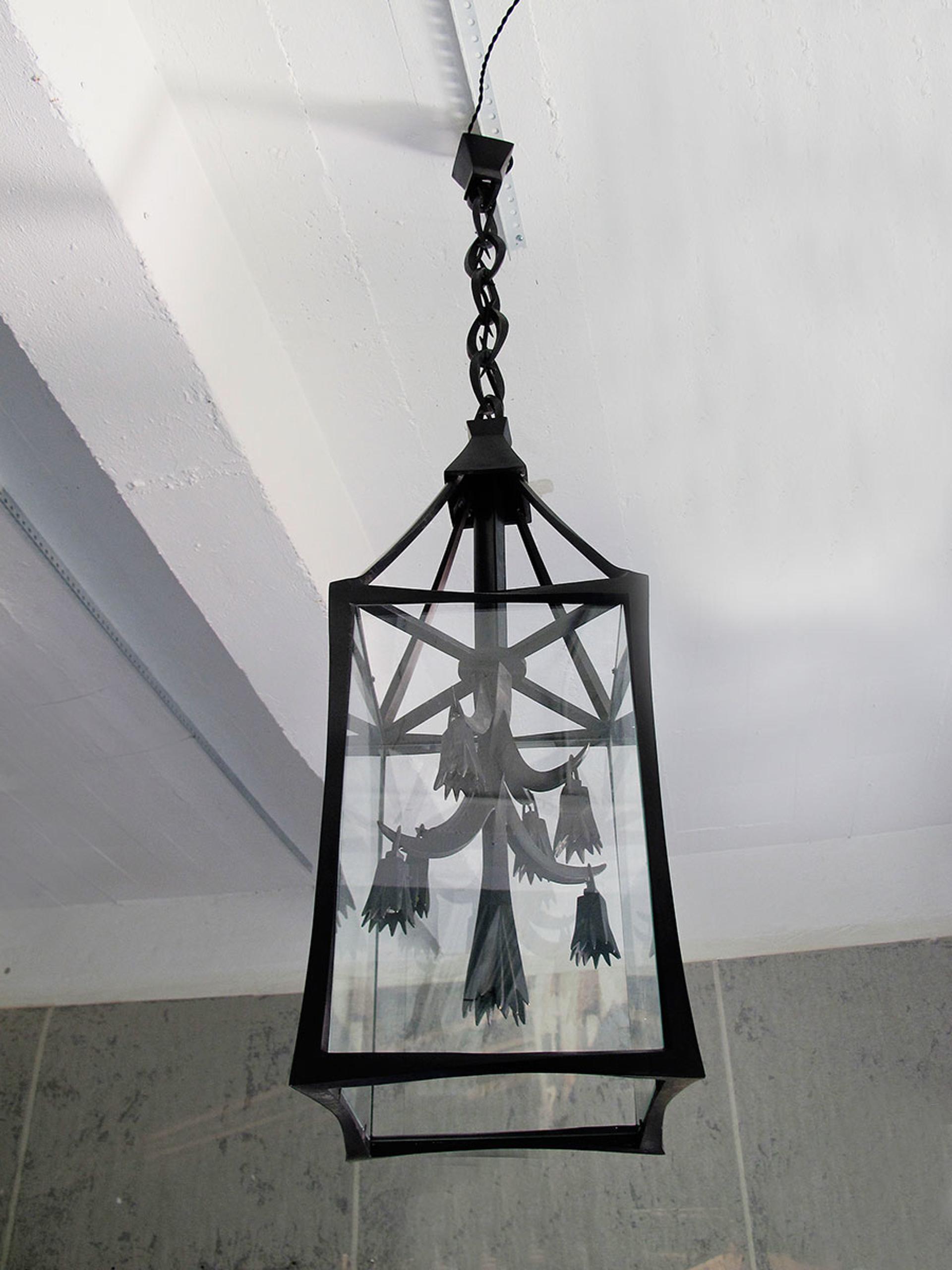 Bronze lantern by Anasthasia Millot