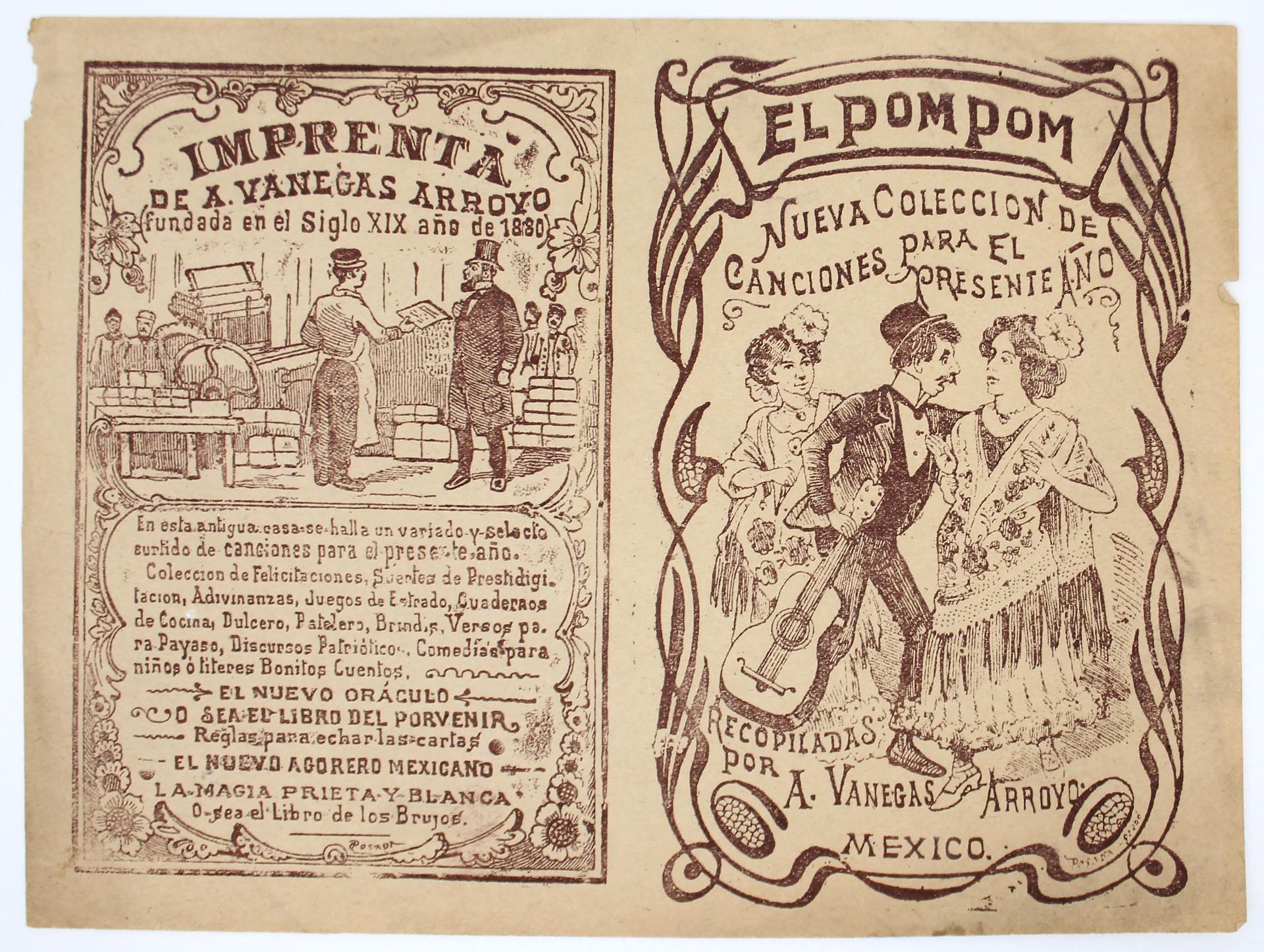 El Pom Pom (2nd Impression) by José Guadalupe Posada (1852 - 1913)