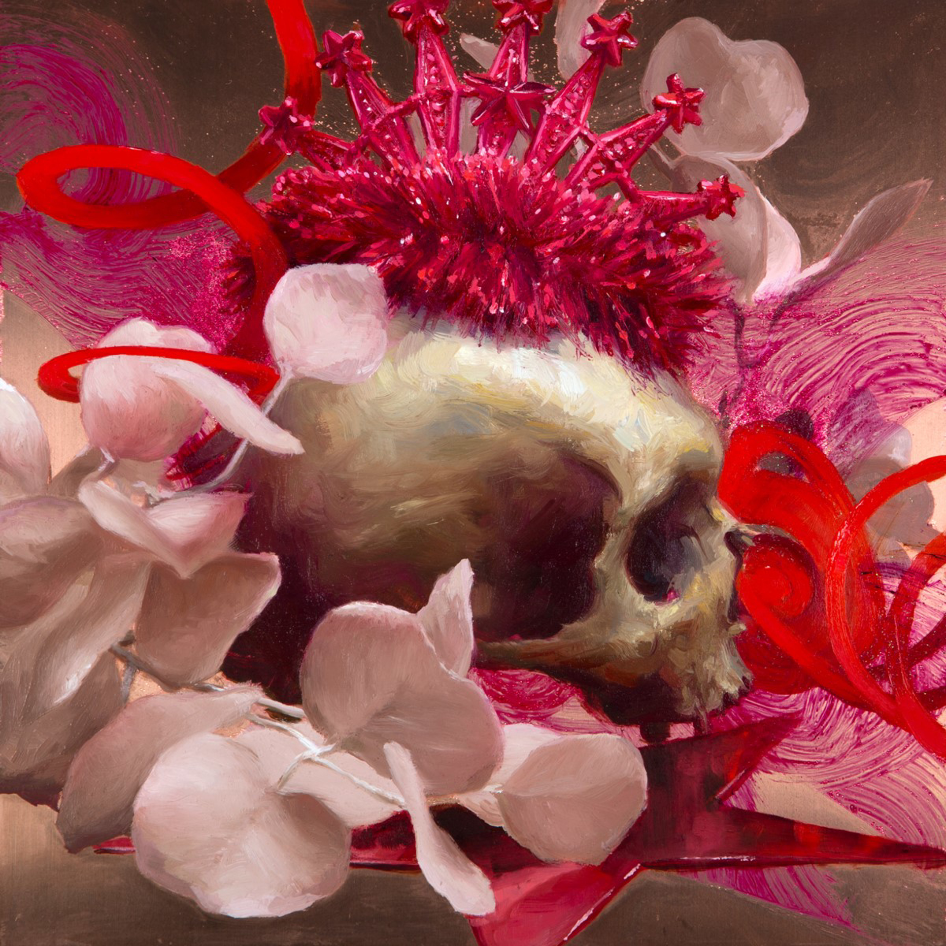 Party Skull #5 by Elizabeth Zanzinger