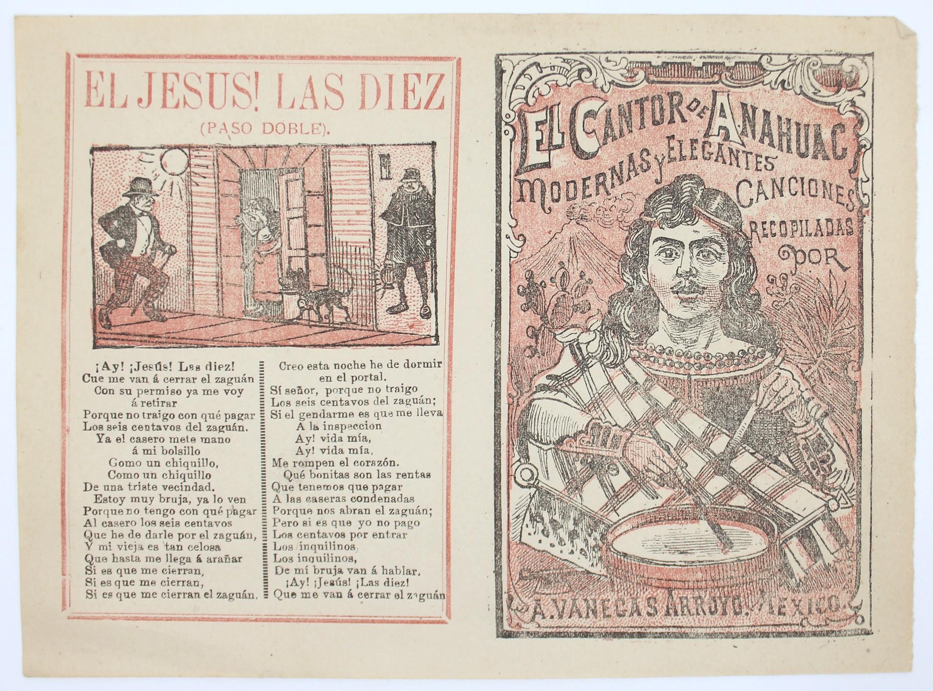El Cantor de Anahuac. Modernas y elegantes canciones. by José Guadalupe Posada (1852 - 1913)