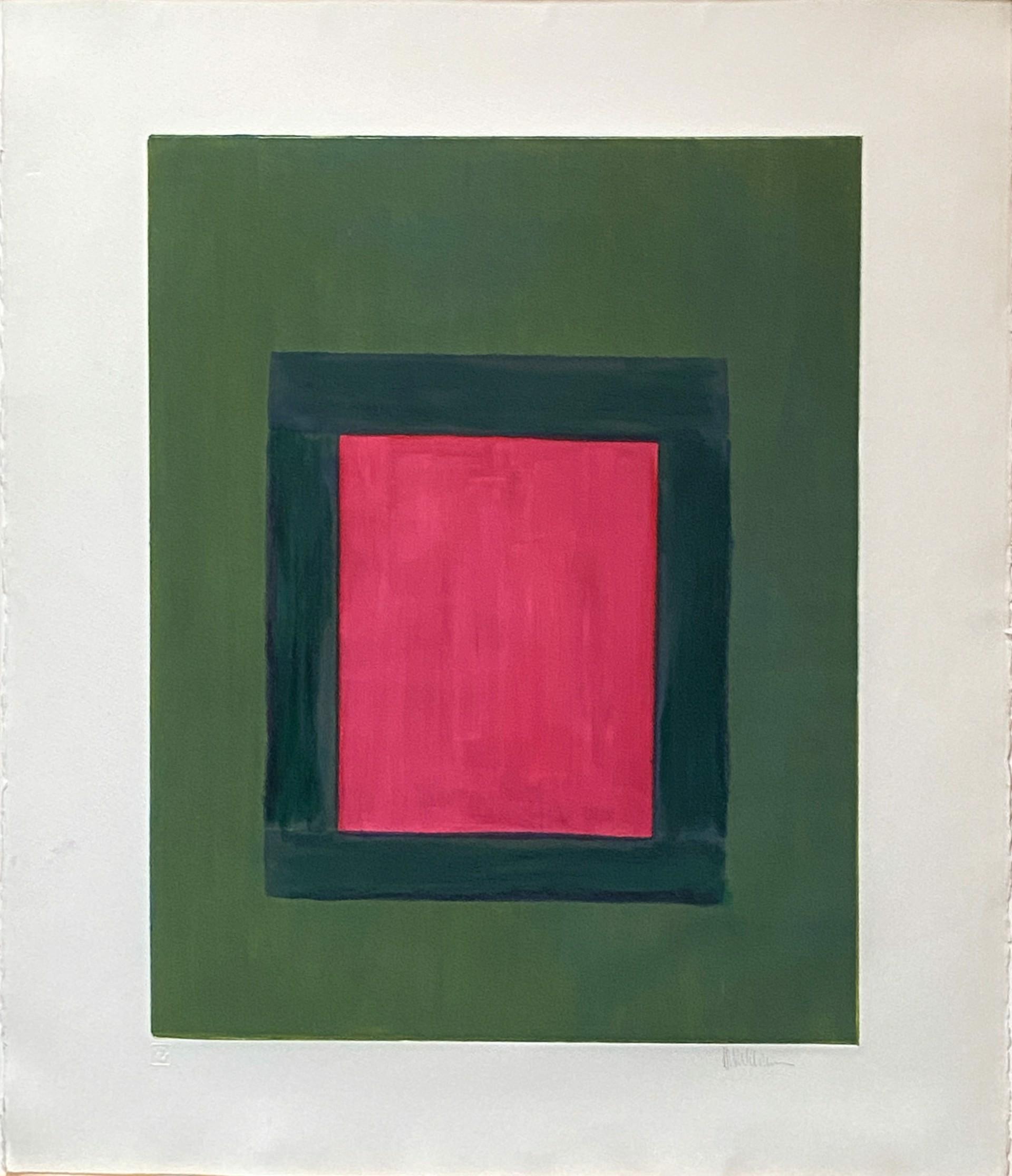 Rose on Green Window by Harold Waldrum