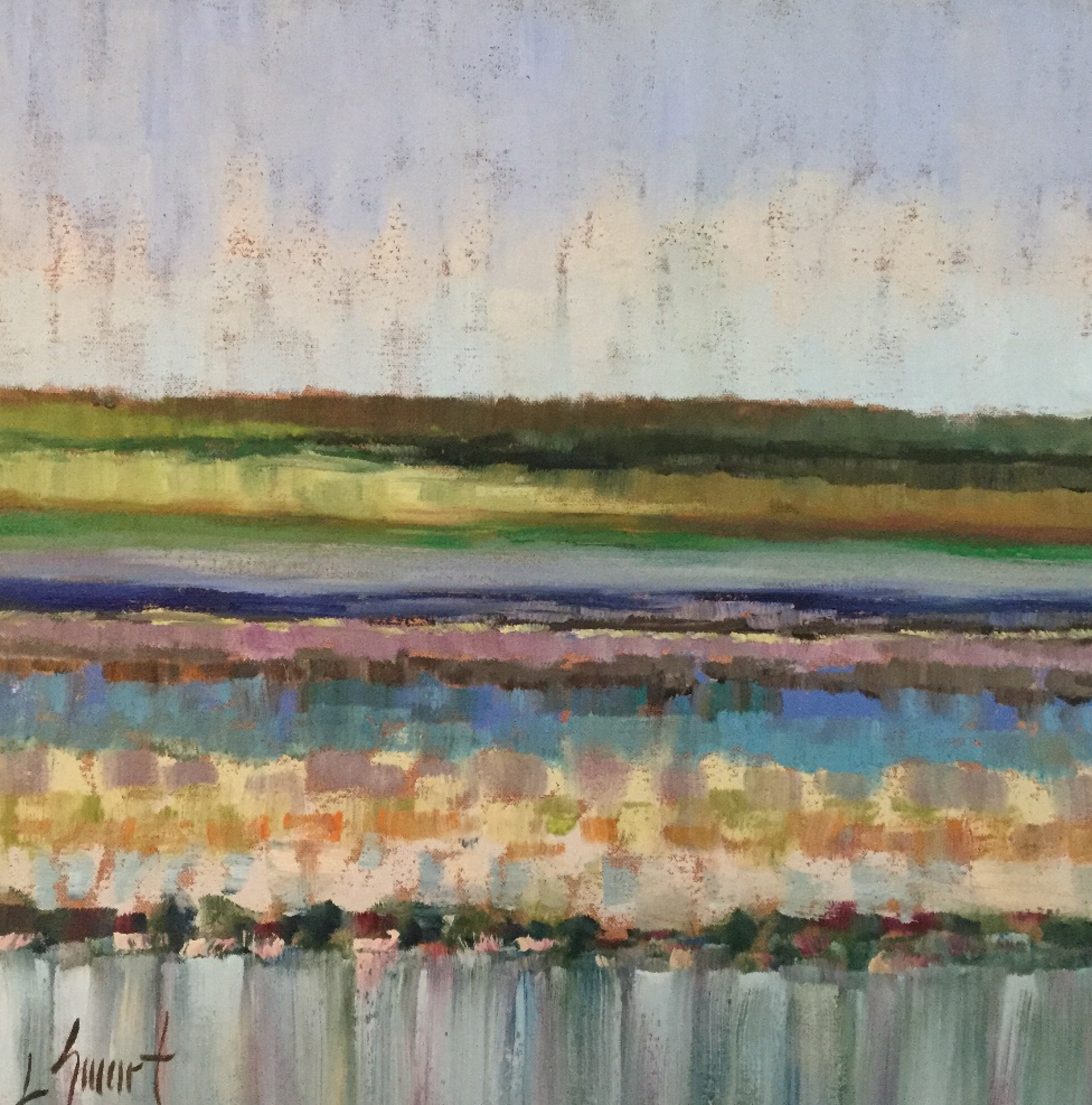 Colorful Marsh View I by Libby Smart