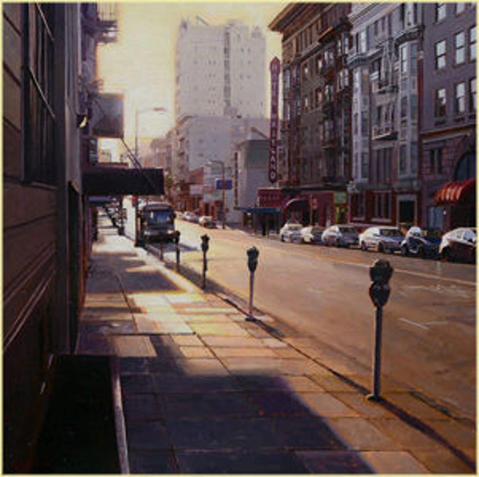 Sunset on Geary Street by Greg Gandy