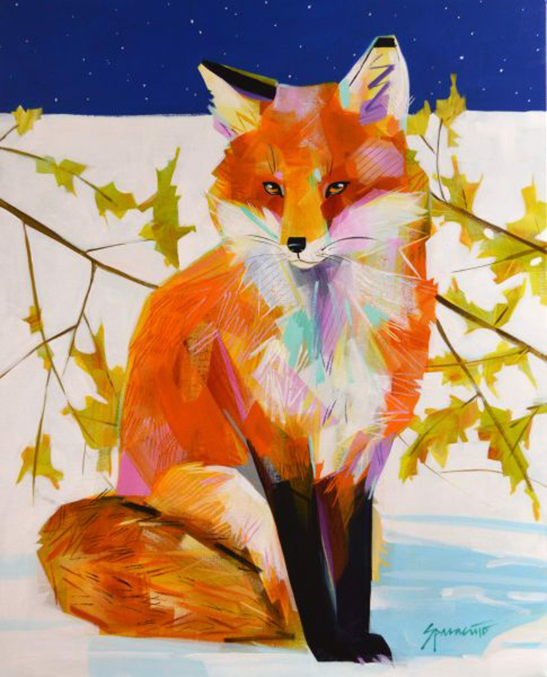 Fox on Winter Solstice by JENNIFER SPARACINO