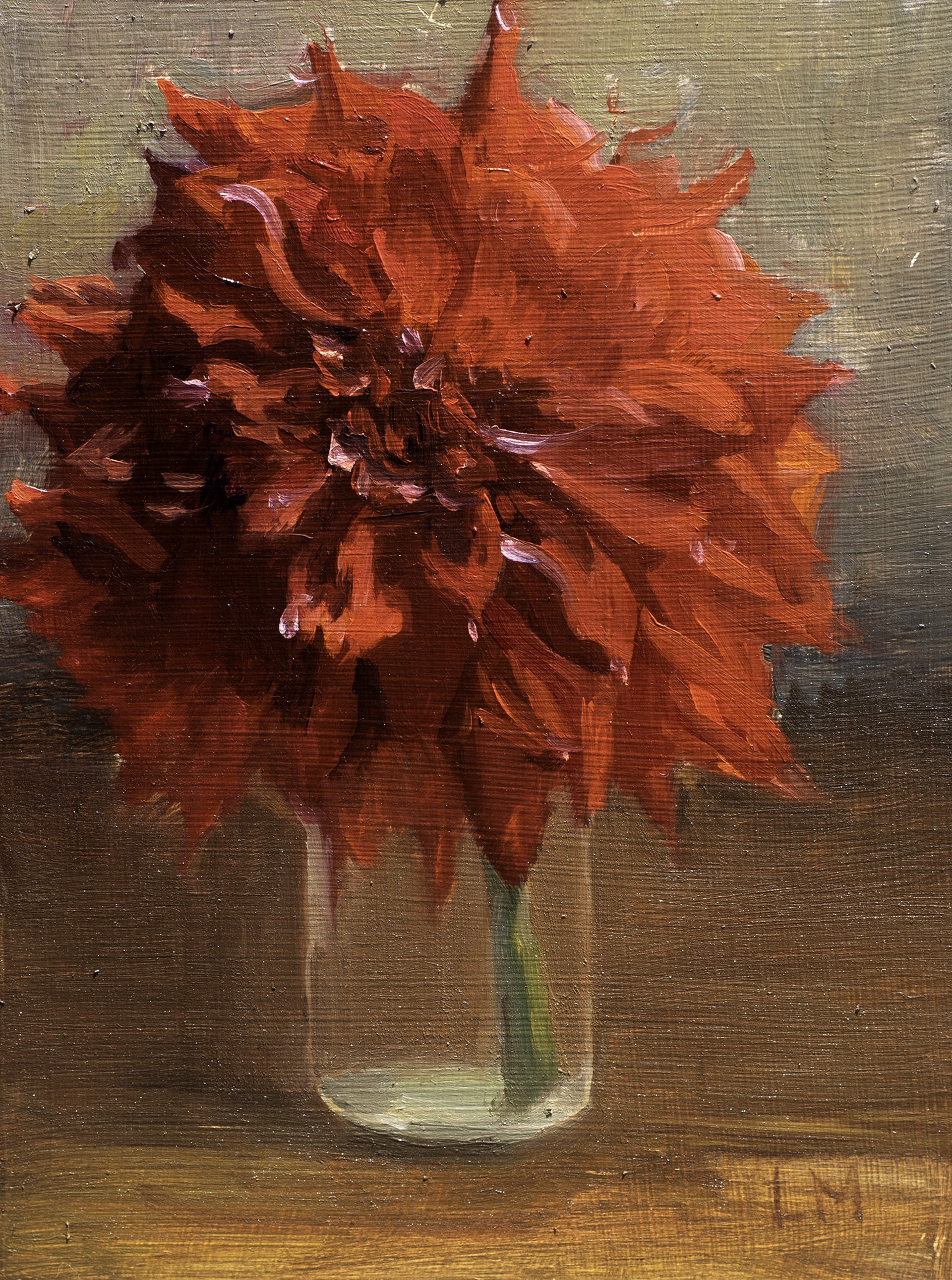 Red Dahlia by Laura Murphey