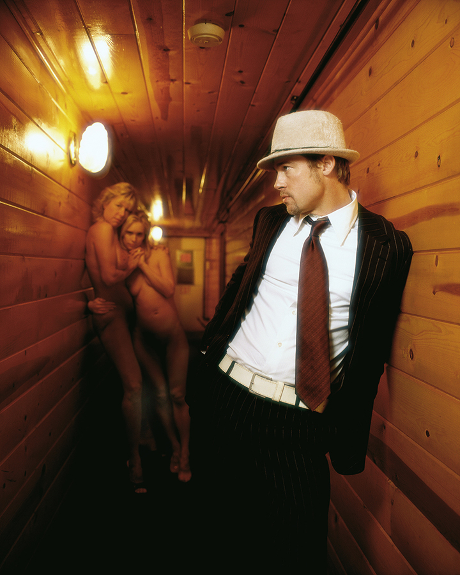 05009 Brad Pitt Girls Chicken Ranch Pahrump NV Color by Timothy White