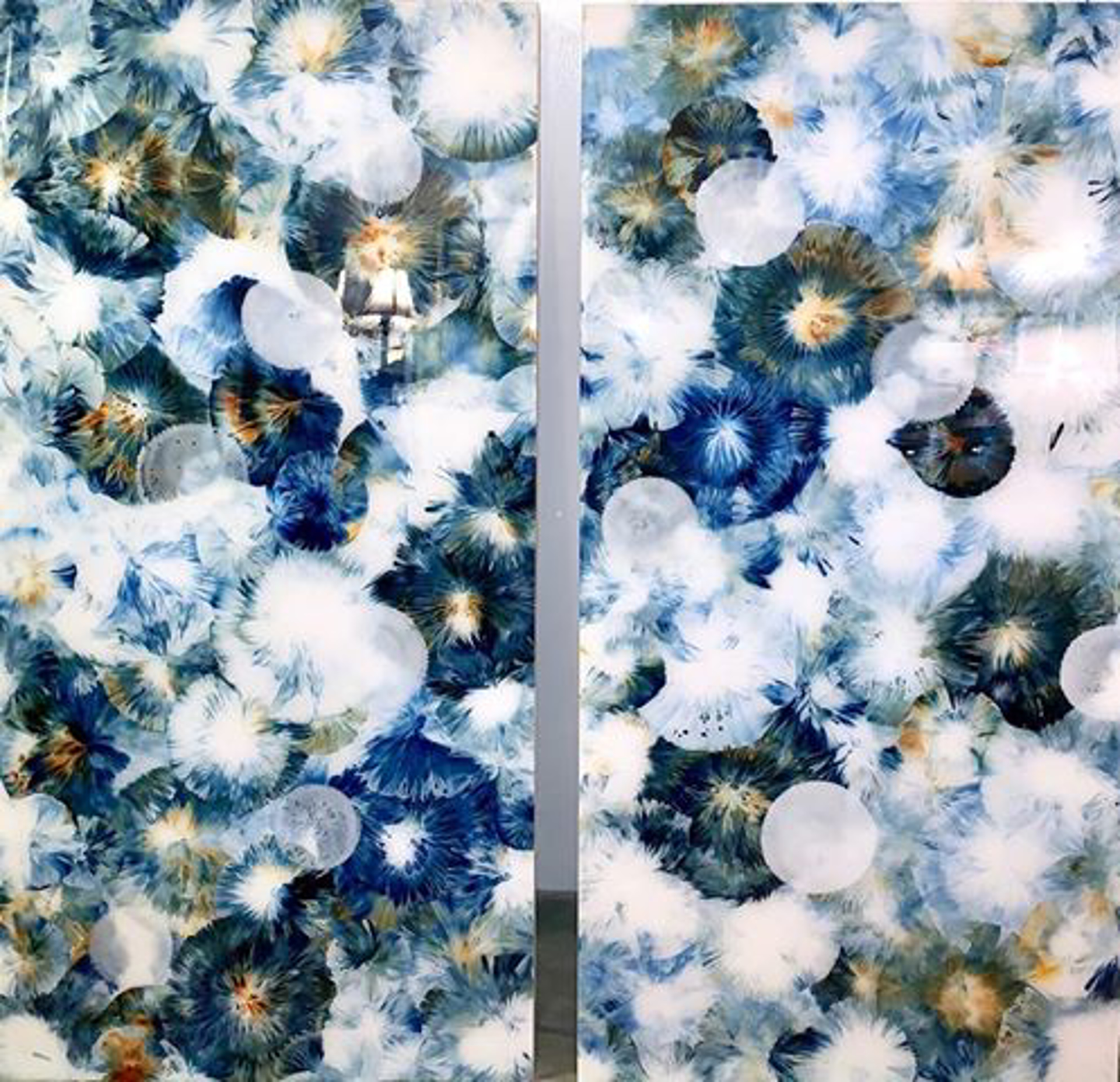 Bloom #12, Right Diptych by Jennifer Glover Riggs