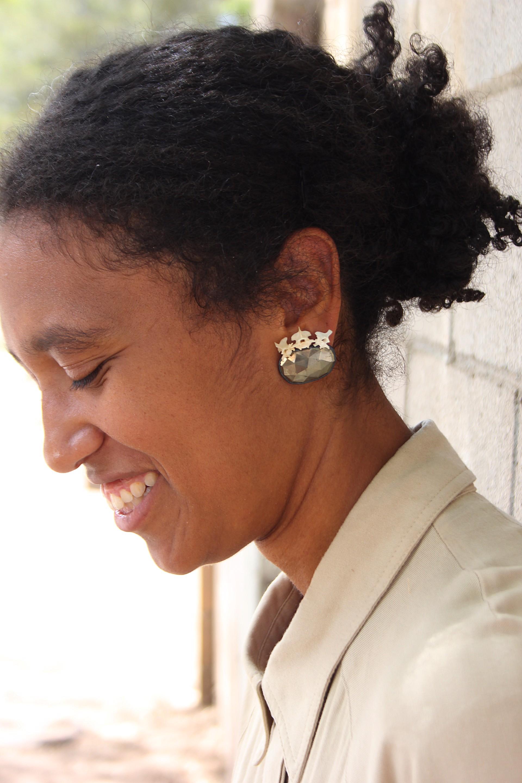 Pyrite Amnio Earrings by Anna Johnson