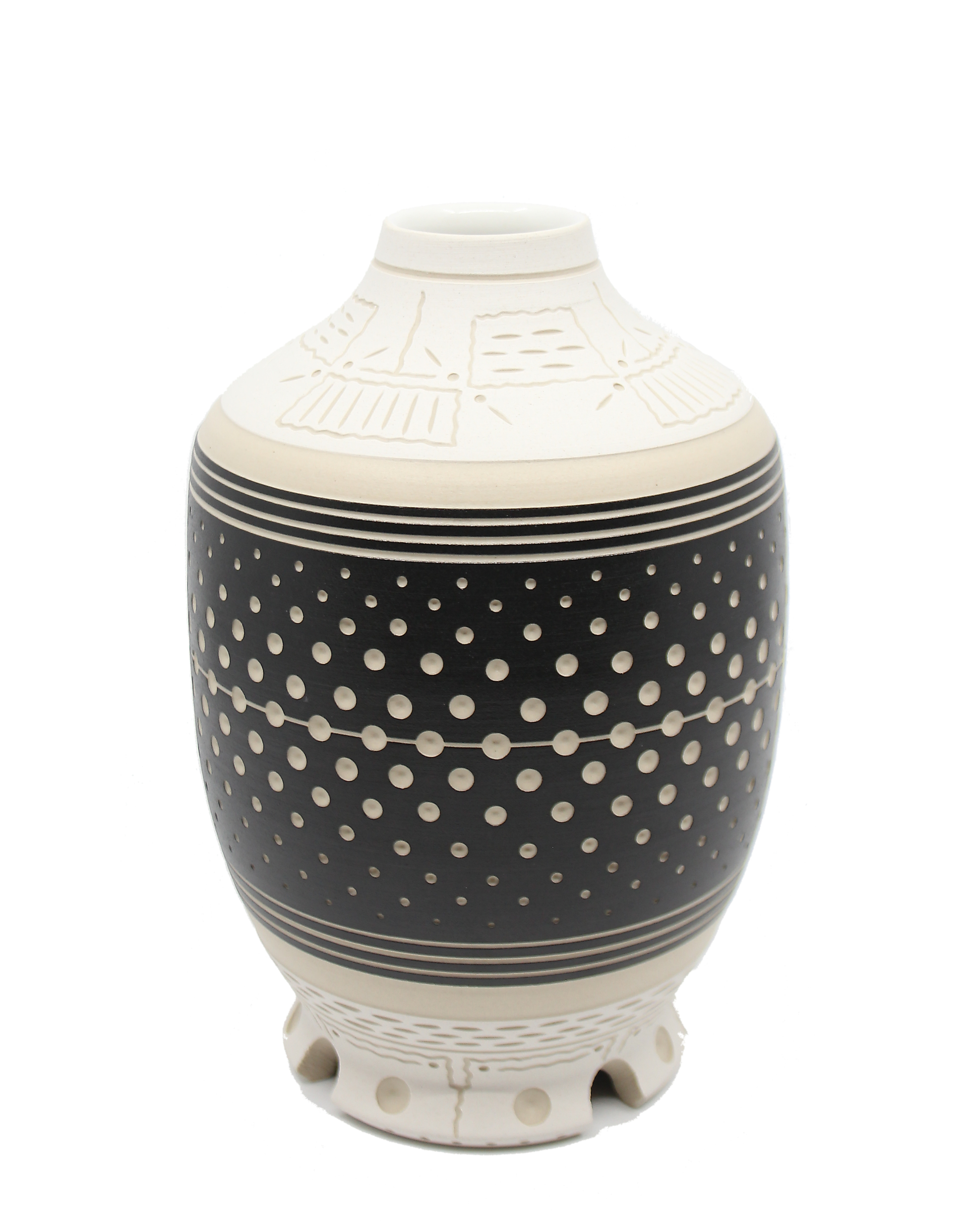 Black & White Vase by Chris Casey