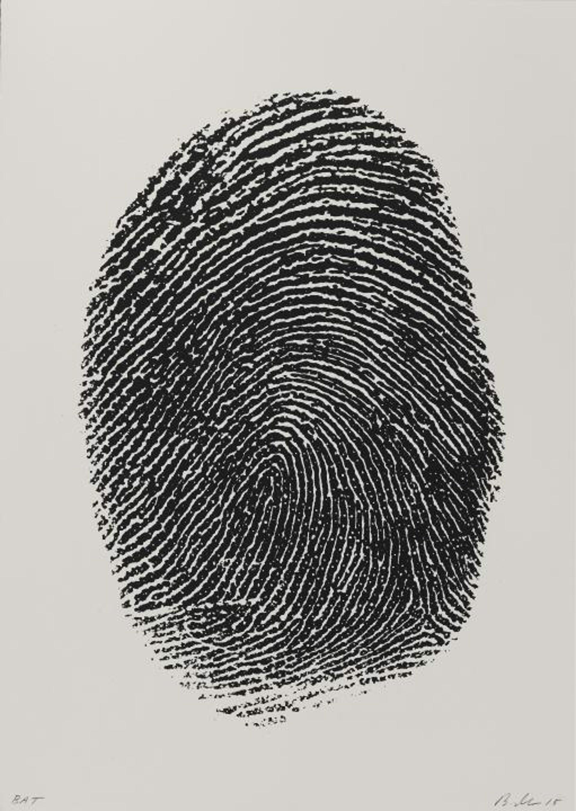 Not Manzoni (Impronte pollice sinistro, 1960) by Mike Bidlo