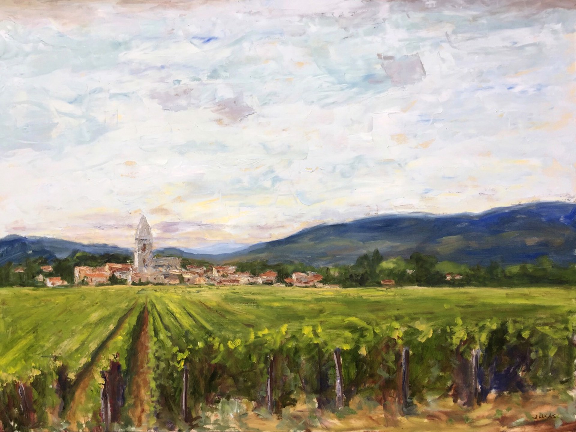 Grapes of Burgundy by Janet Lucas Beck