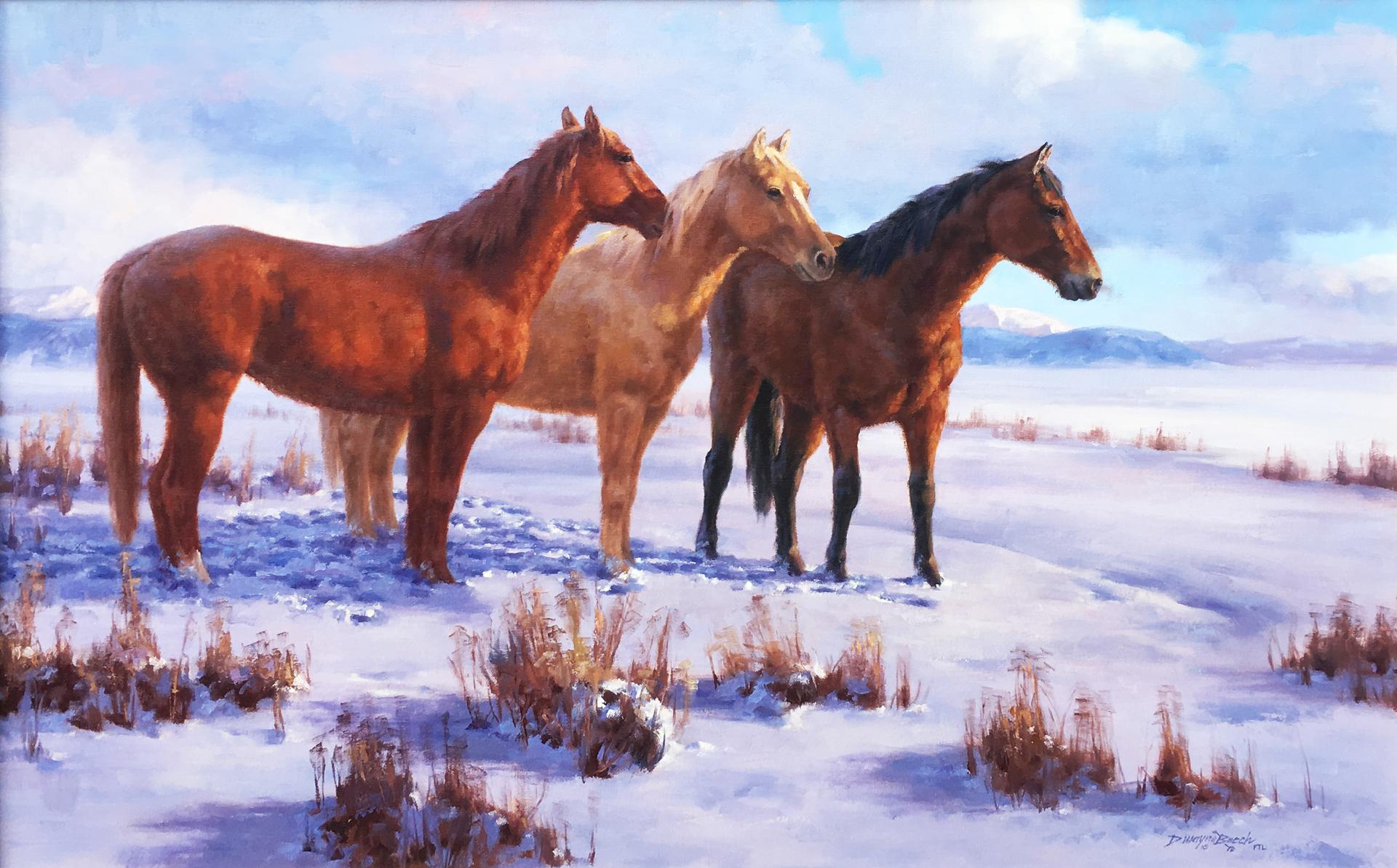 Pasture Pals (Horses) by Dwayne Brech