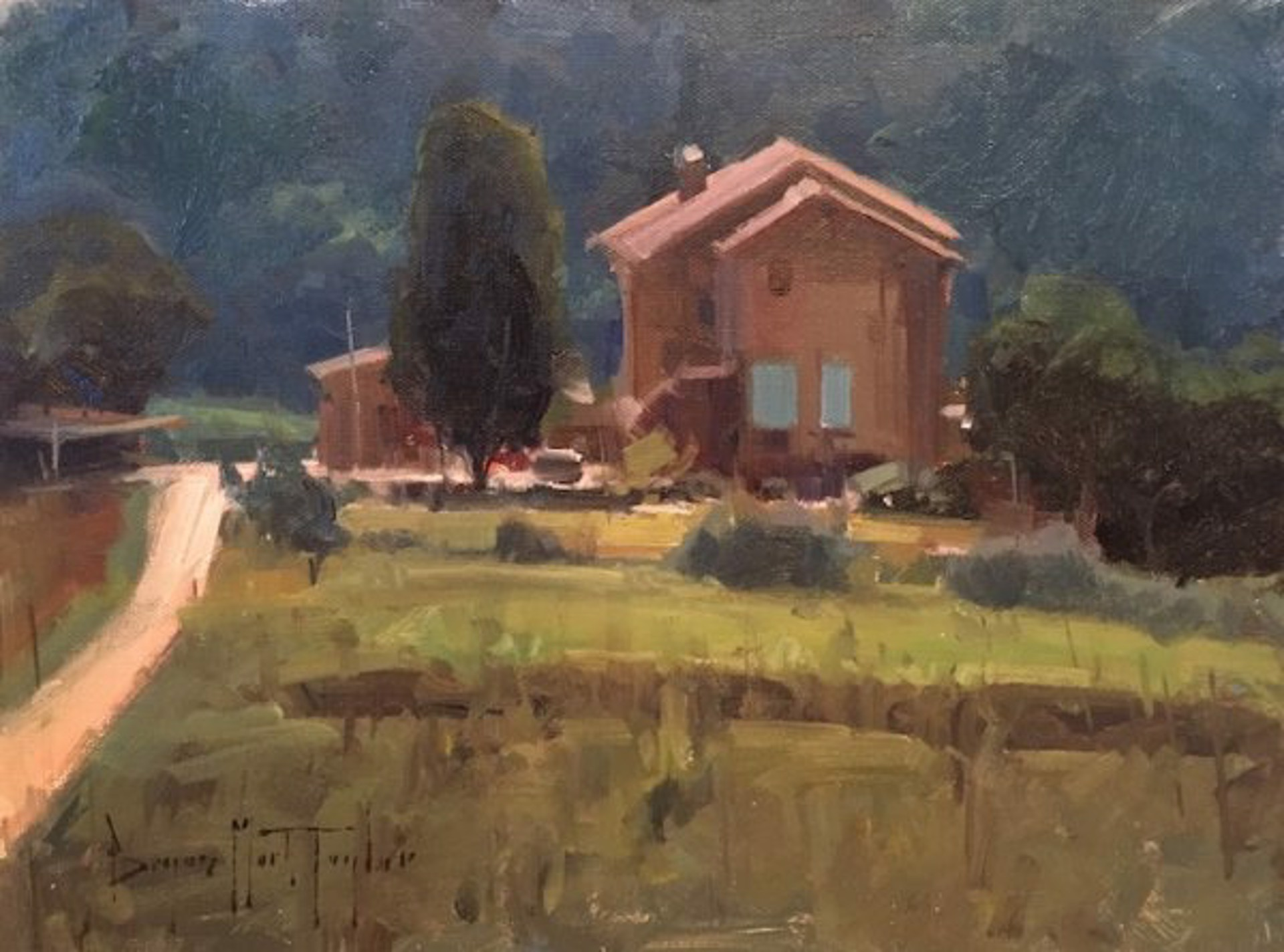 Villa By The Hill by Bryan Mark Taylor