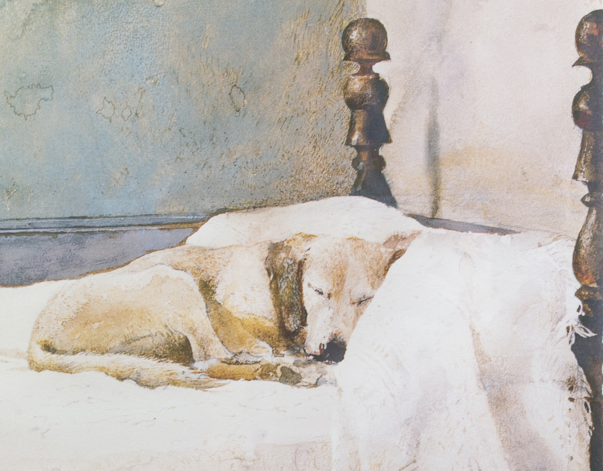 Dog on Bed by Andrew Wyeth
