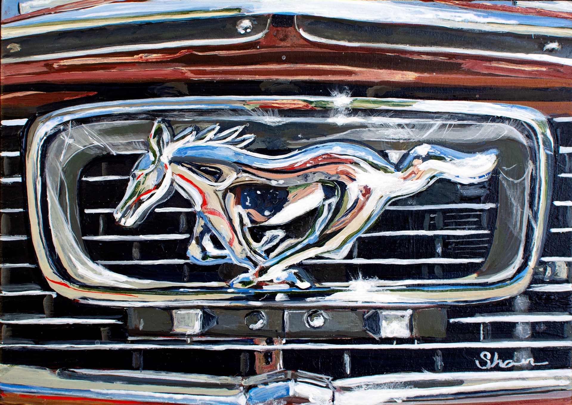 Mustang Grill Ornament by Shan Fannin