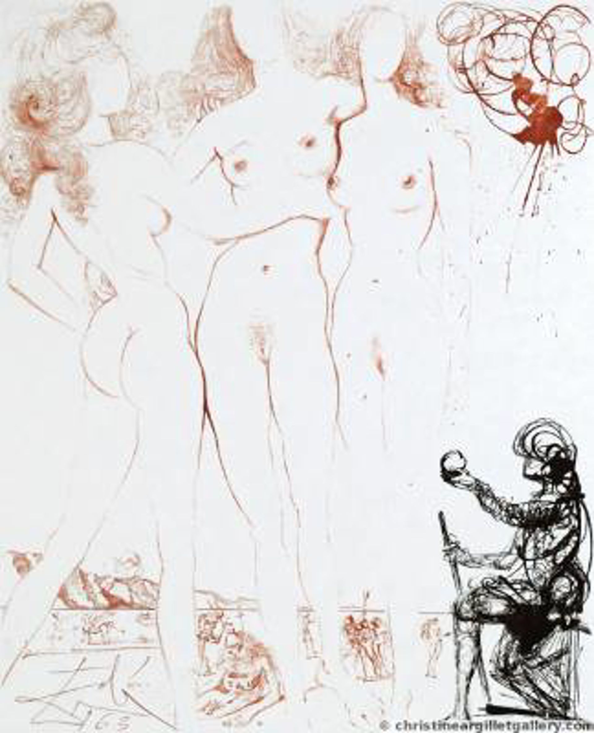 "Mythology ""Judgment of Paris"" by Salvador Dali"
