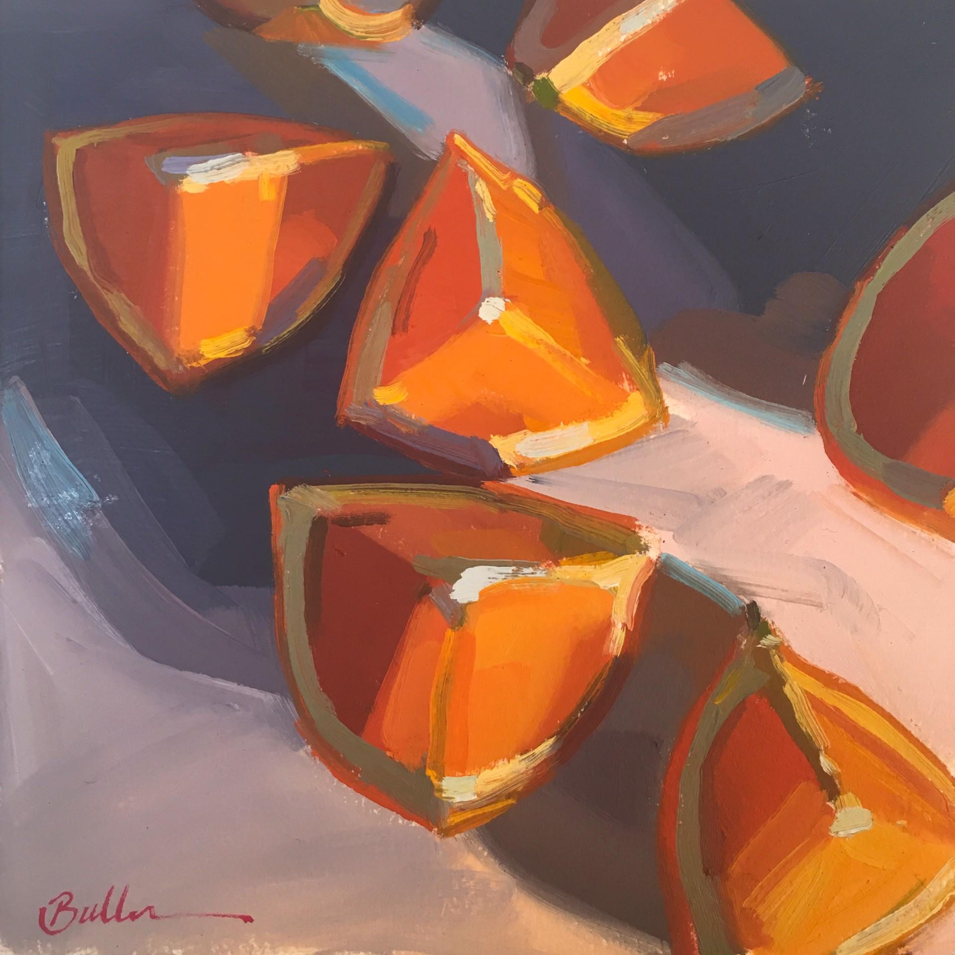 Seven Orange Wedges by Samantha Buller