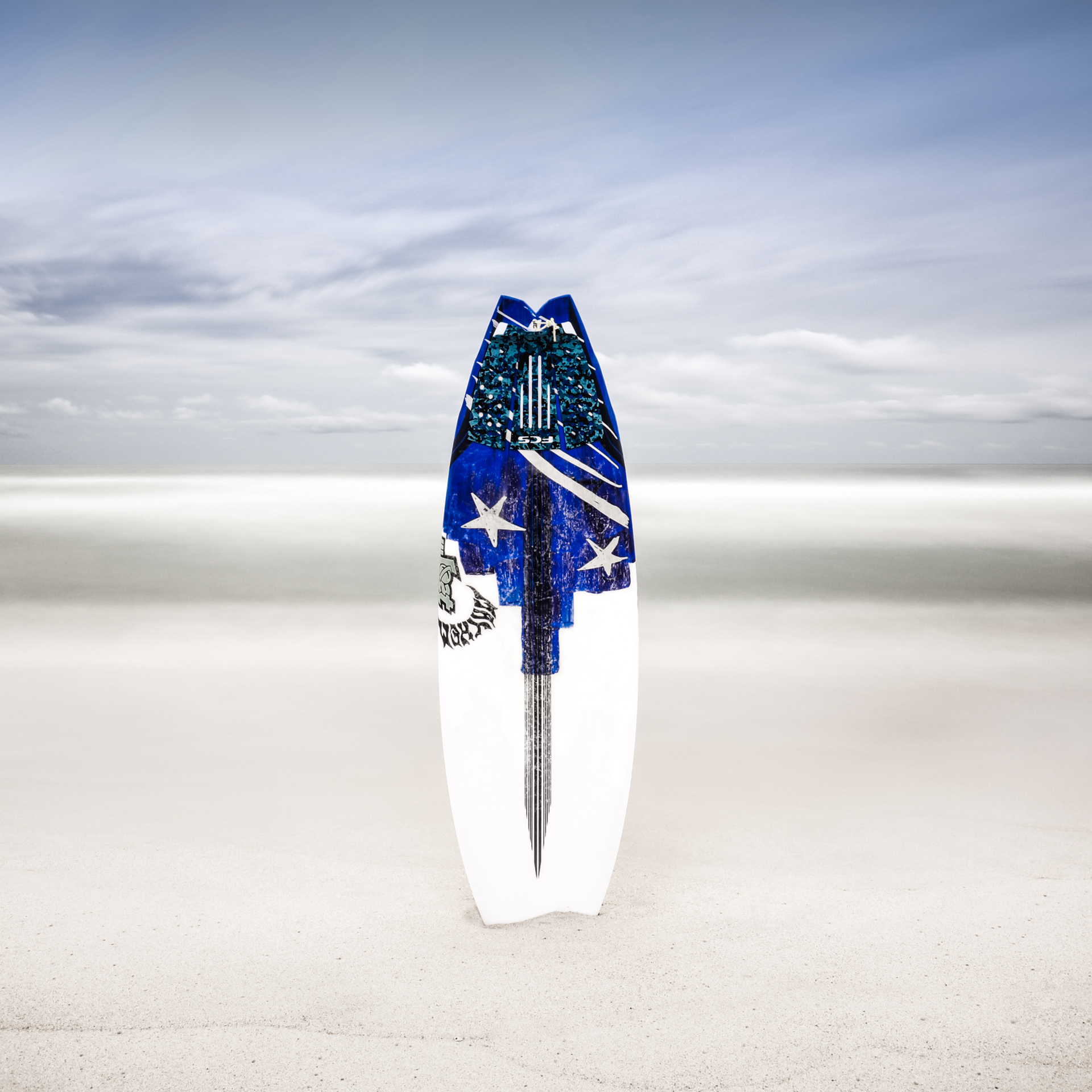 Surfboard at White Sands/Color by Keith Ramsdell