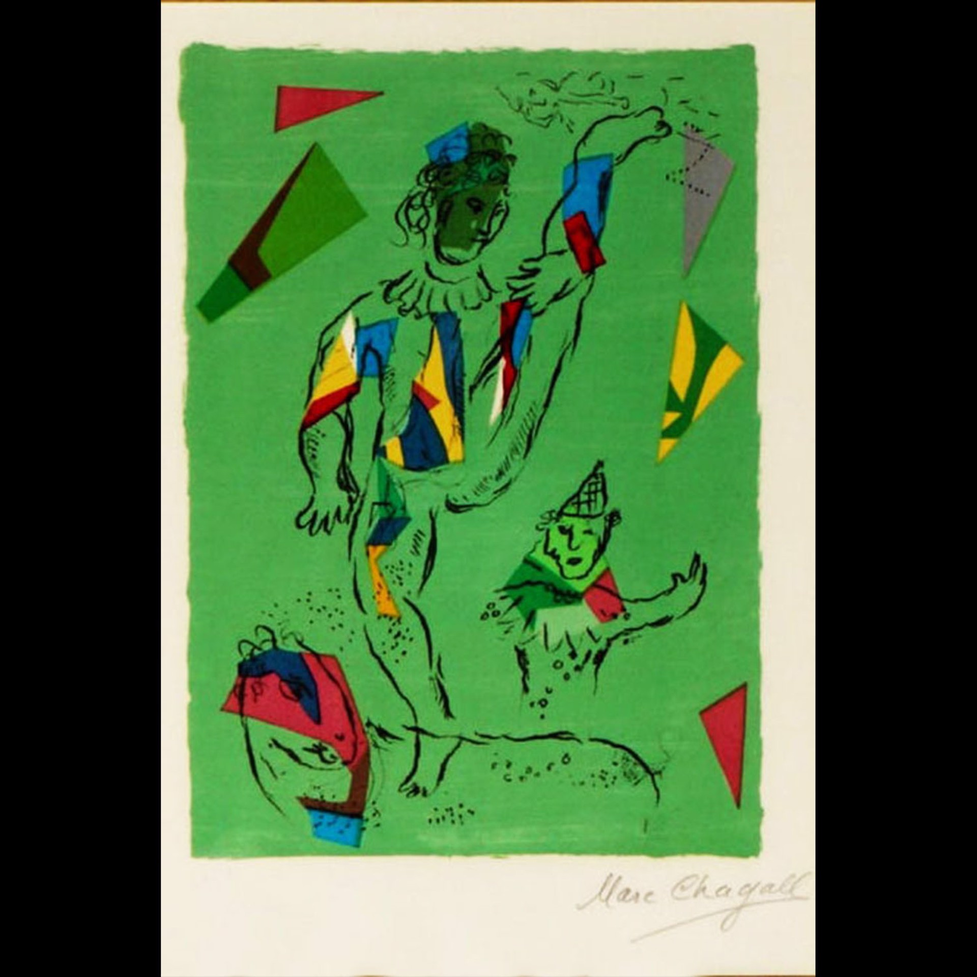 The Green Acrobat by Marc Chagall