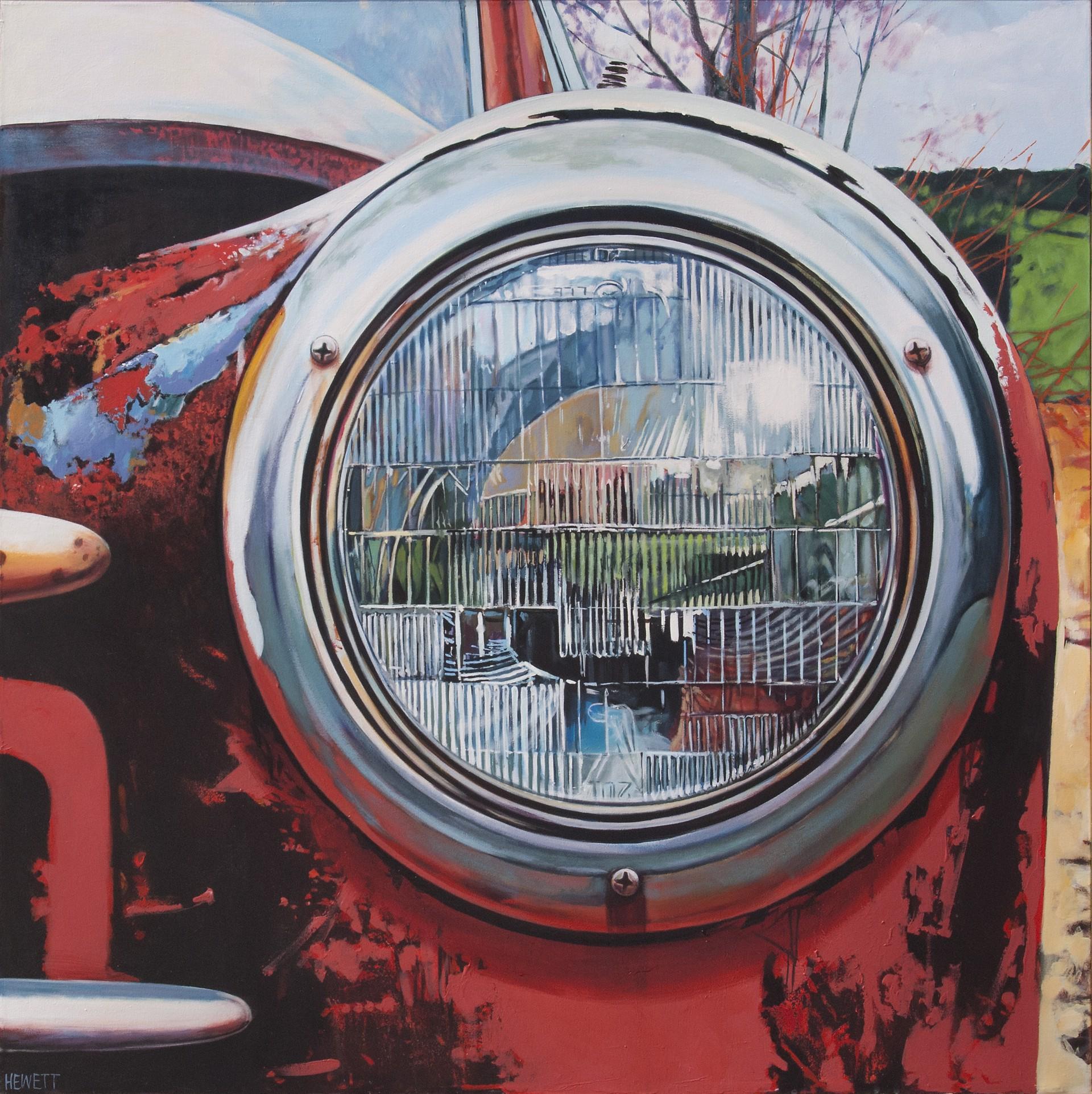 Headlight Red by Scott Hewett