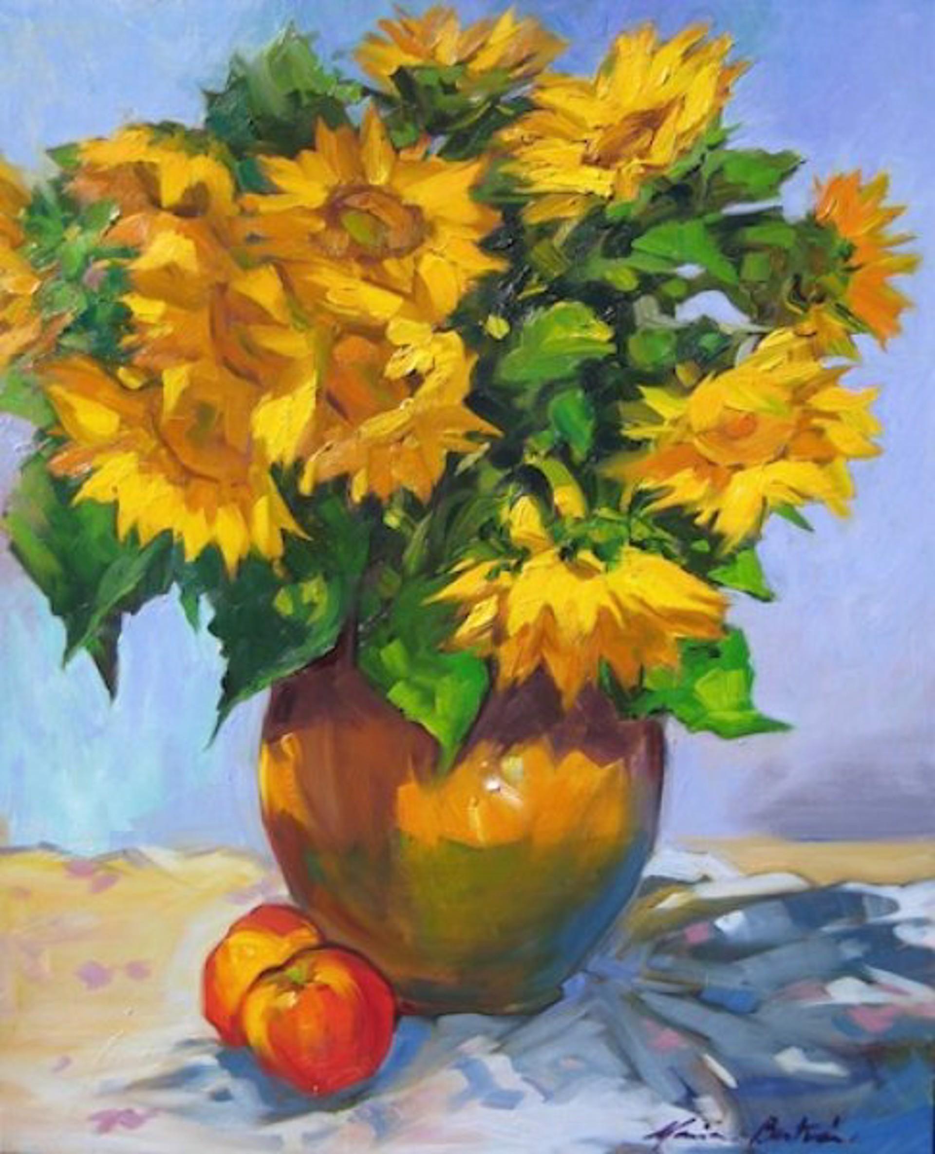 Maria Bertran: Bounty Of Sunflowers by Maria Bertrán