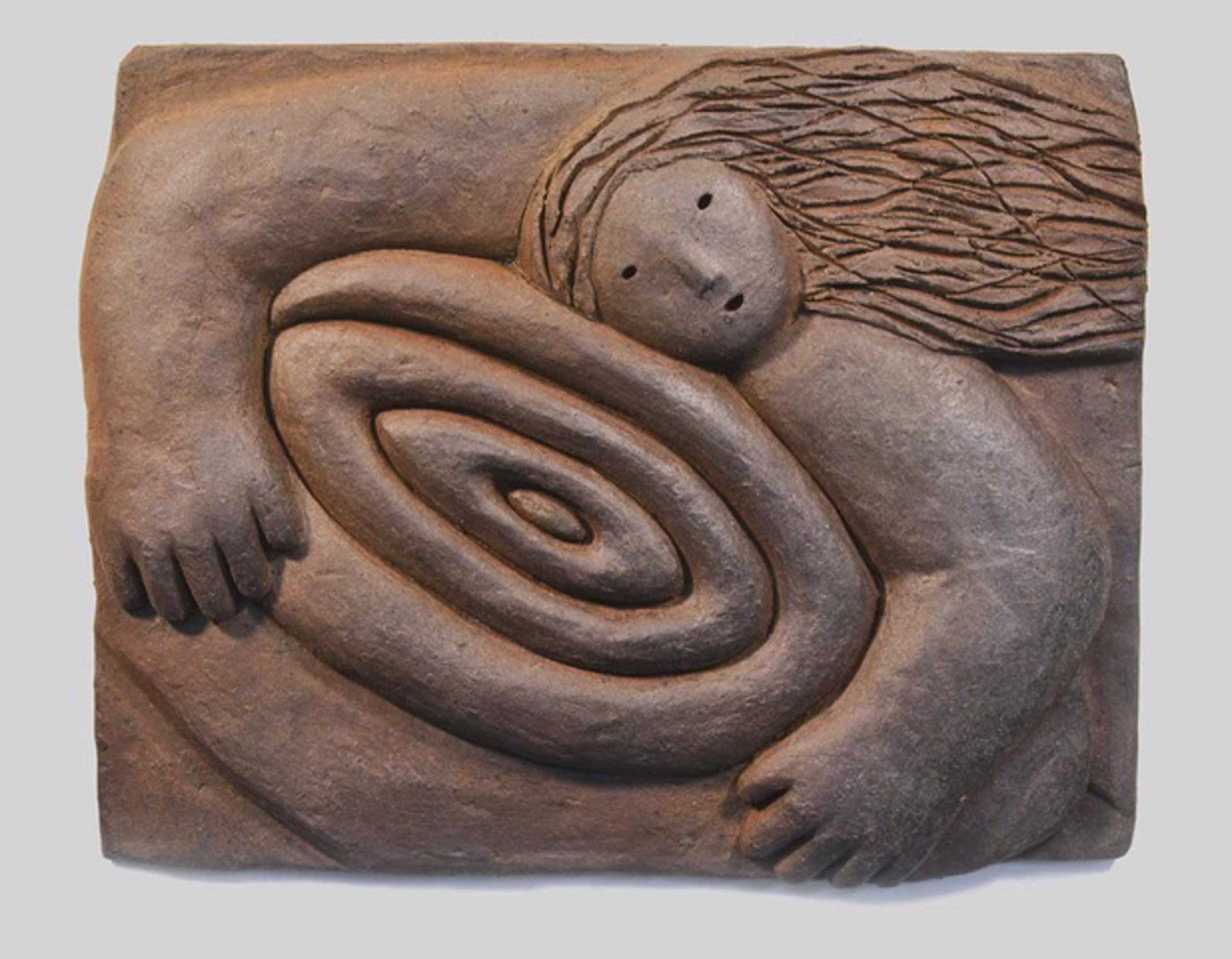 Holding galaxy (wall tile) by Joy Brown