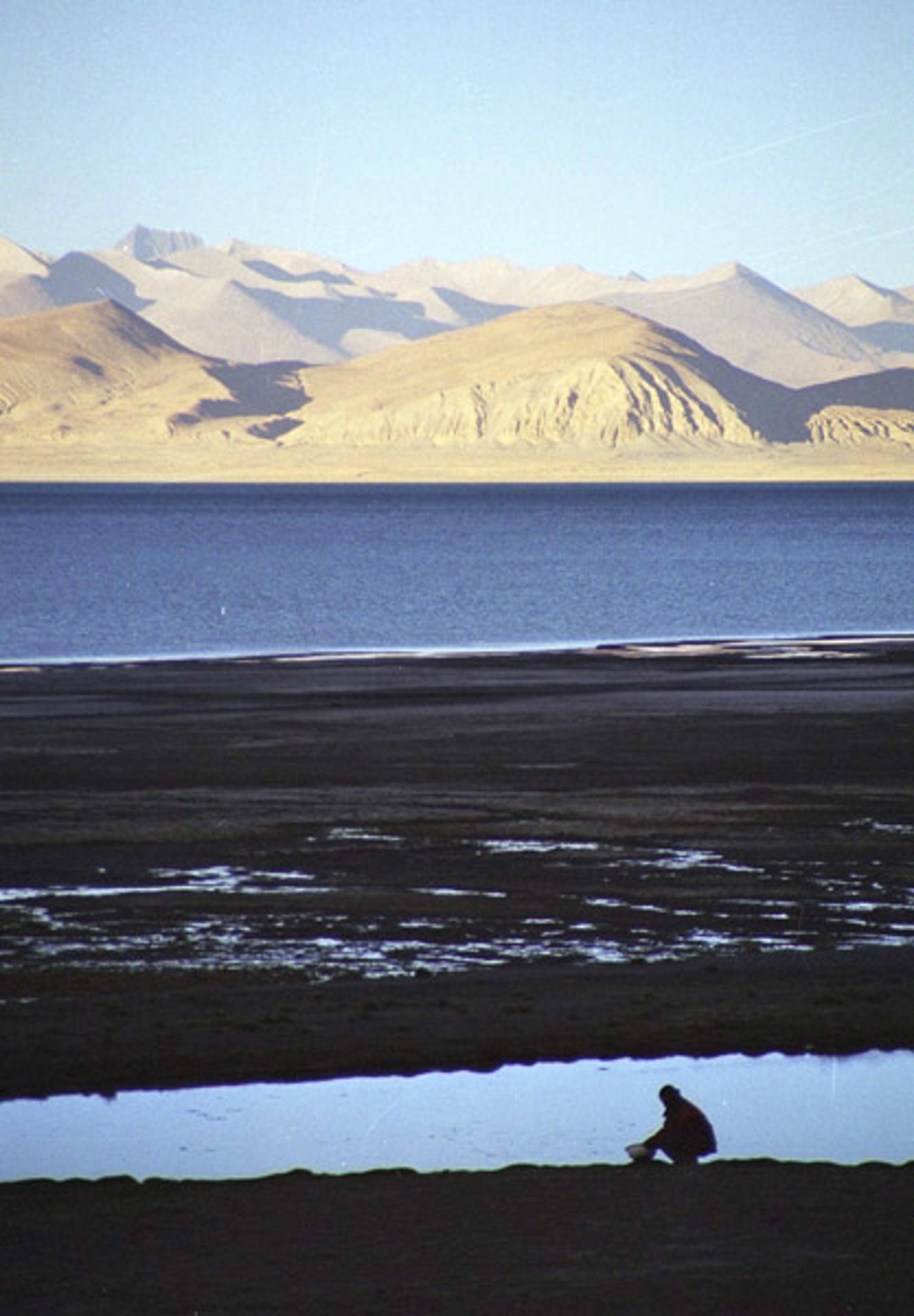 Making Camp, Peiku Tso, Tibet by Cora Edmonds