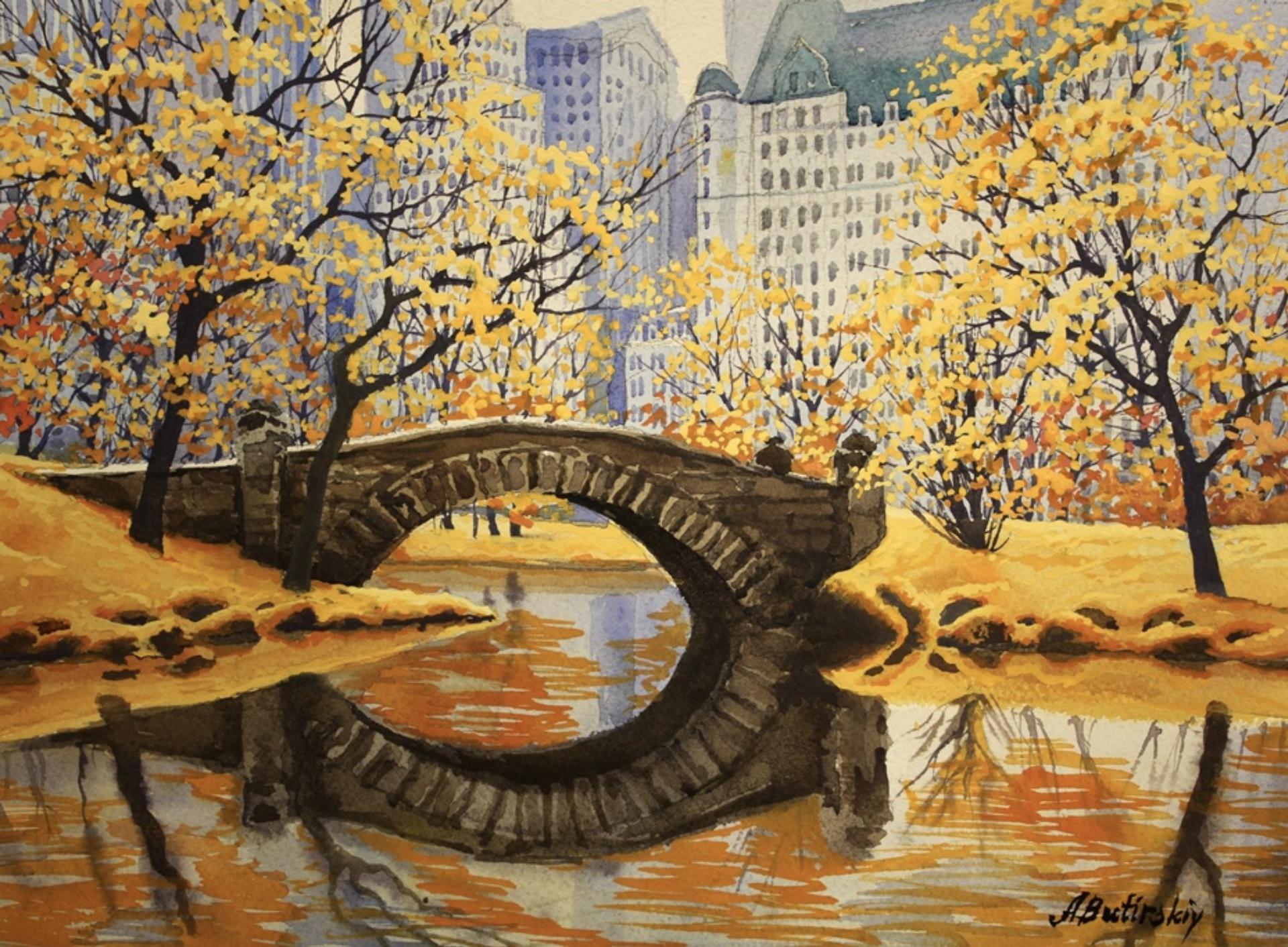 Central Park in Autumn by Alexei Butirskiy