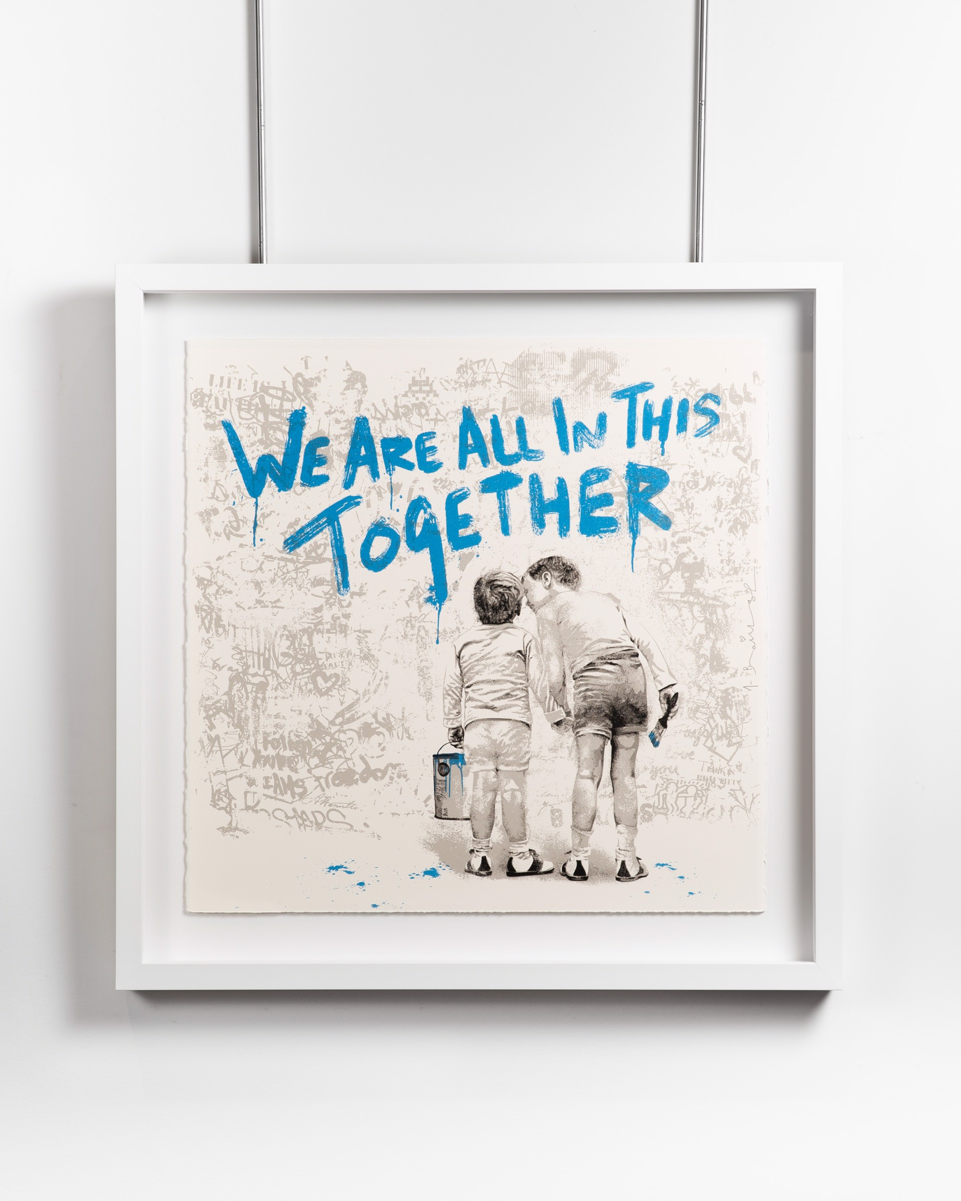 We are all in this together (blue) by Mr. Brainwash