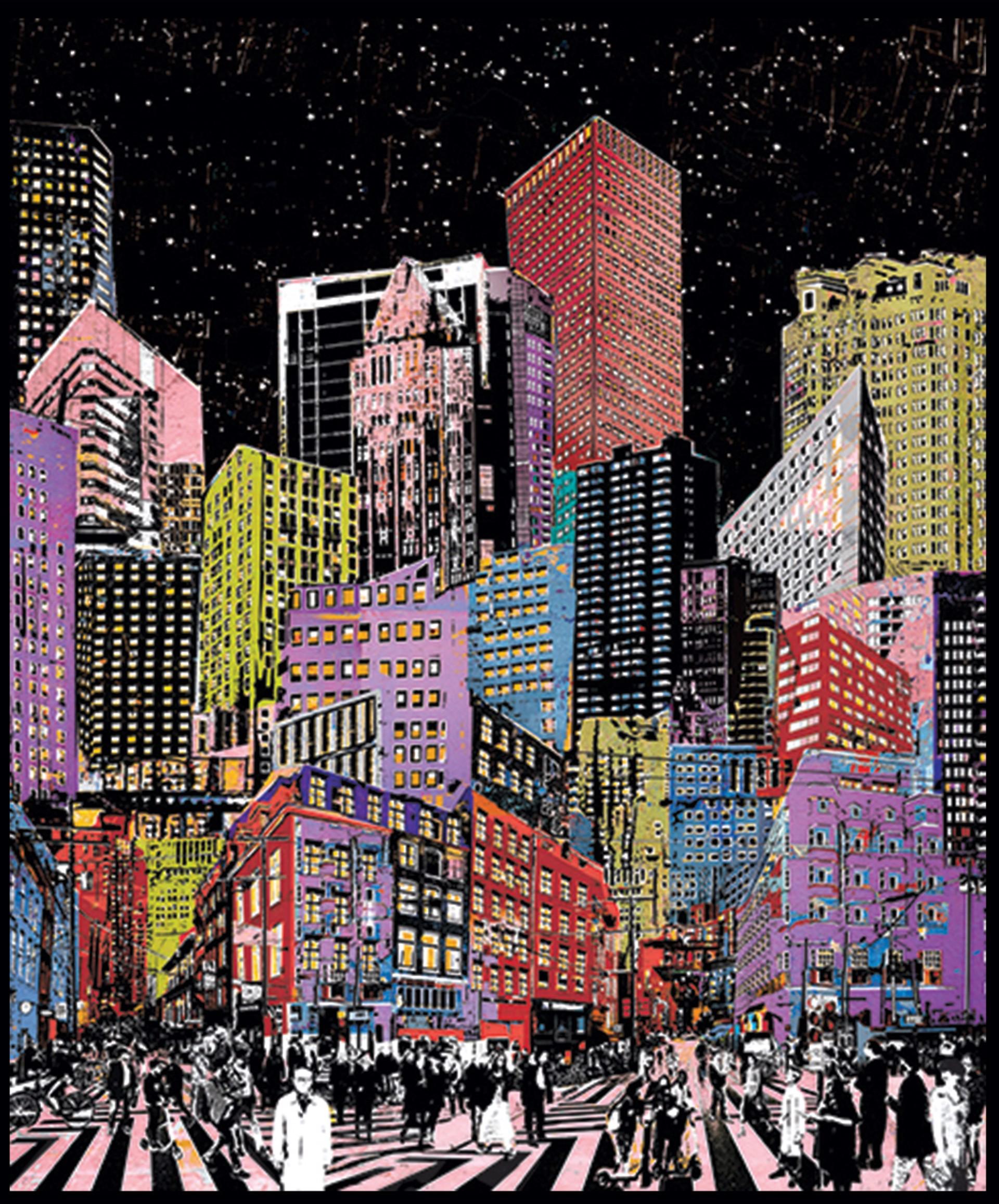 Big City at Night by Daryl Thetford