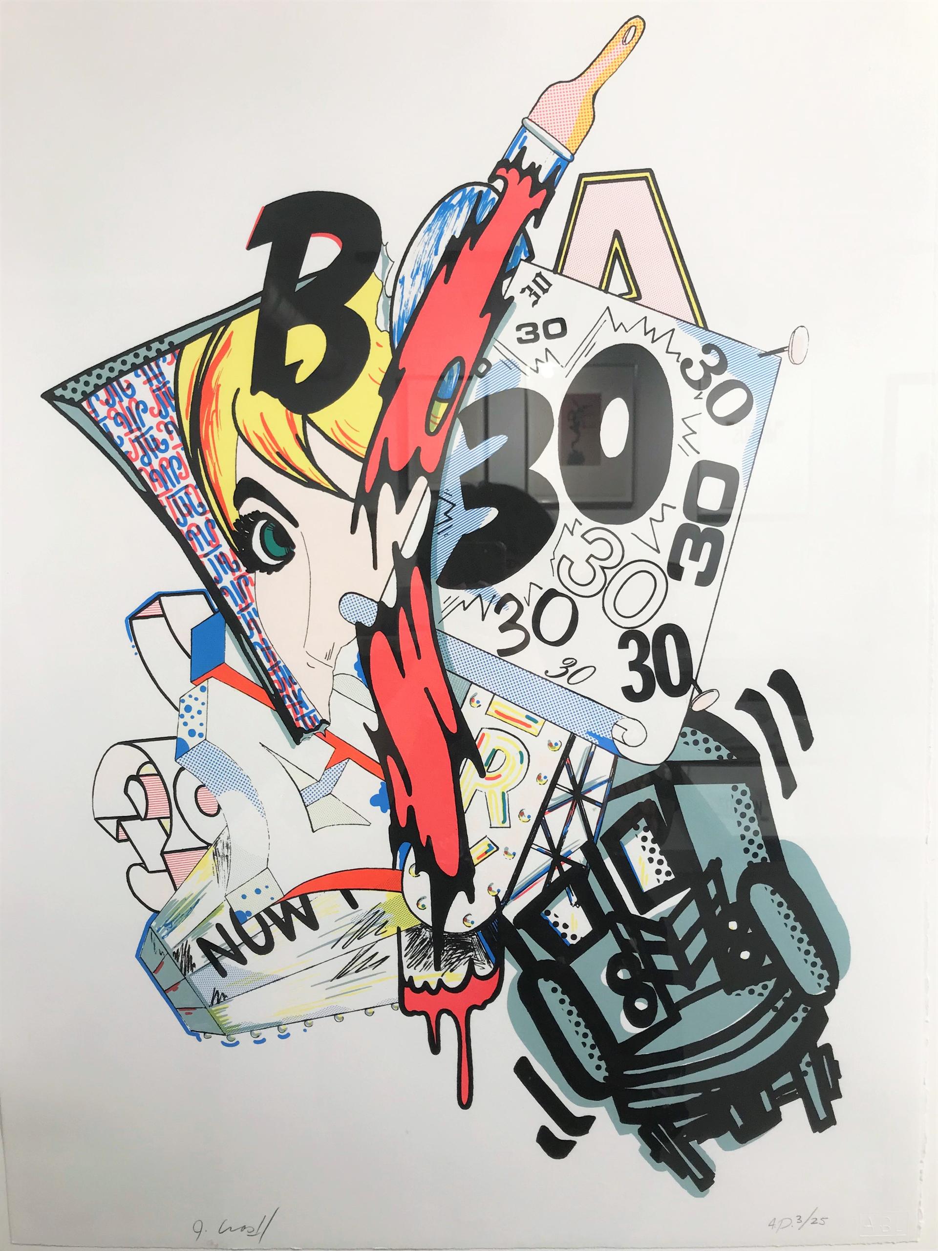 """B.C.A. Benefit Print by John """"Crash"""" Matos"""