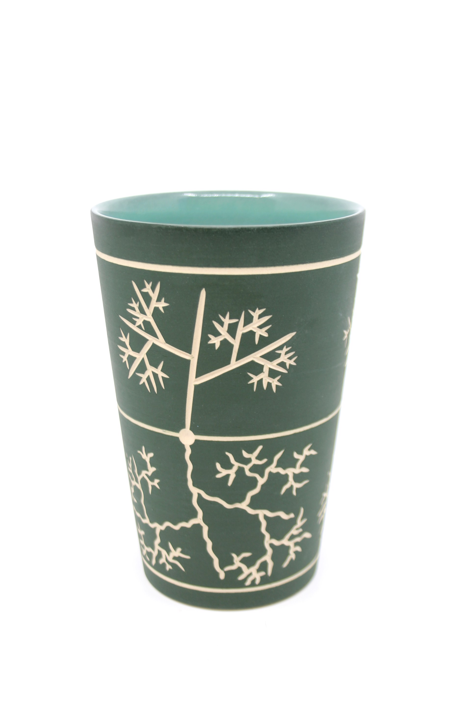 Forest Green Tall Cup by Chris Casey