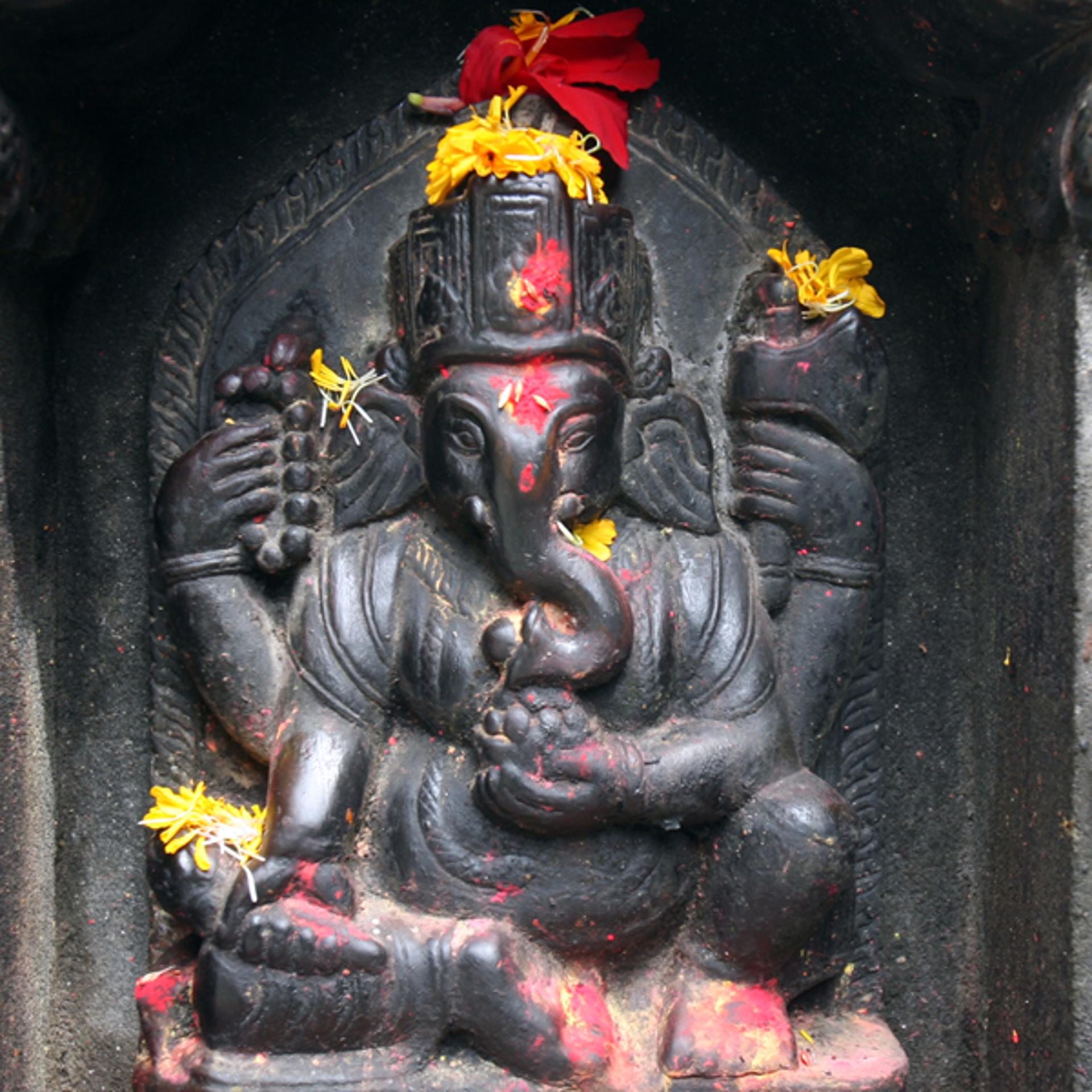 Ganesha, Patan, Nepal by Cora Edmonds