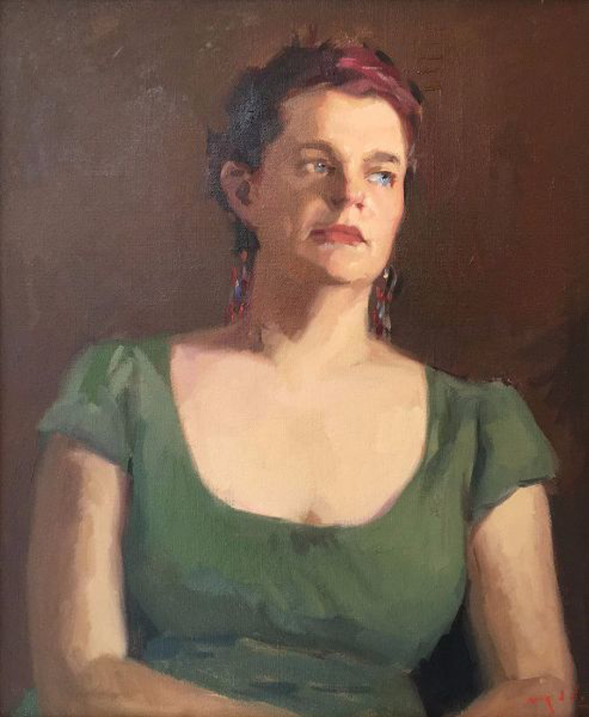 Stephanie in Green (A Portrait Study) by Tanvi Pathare