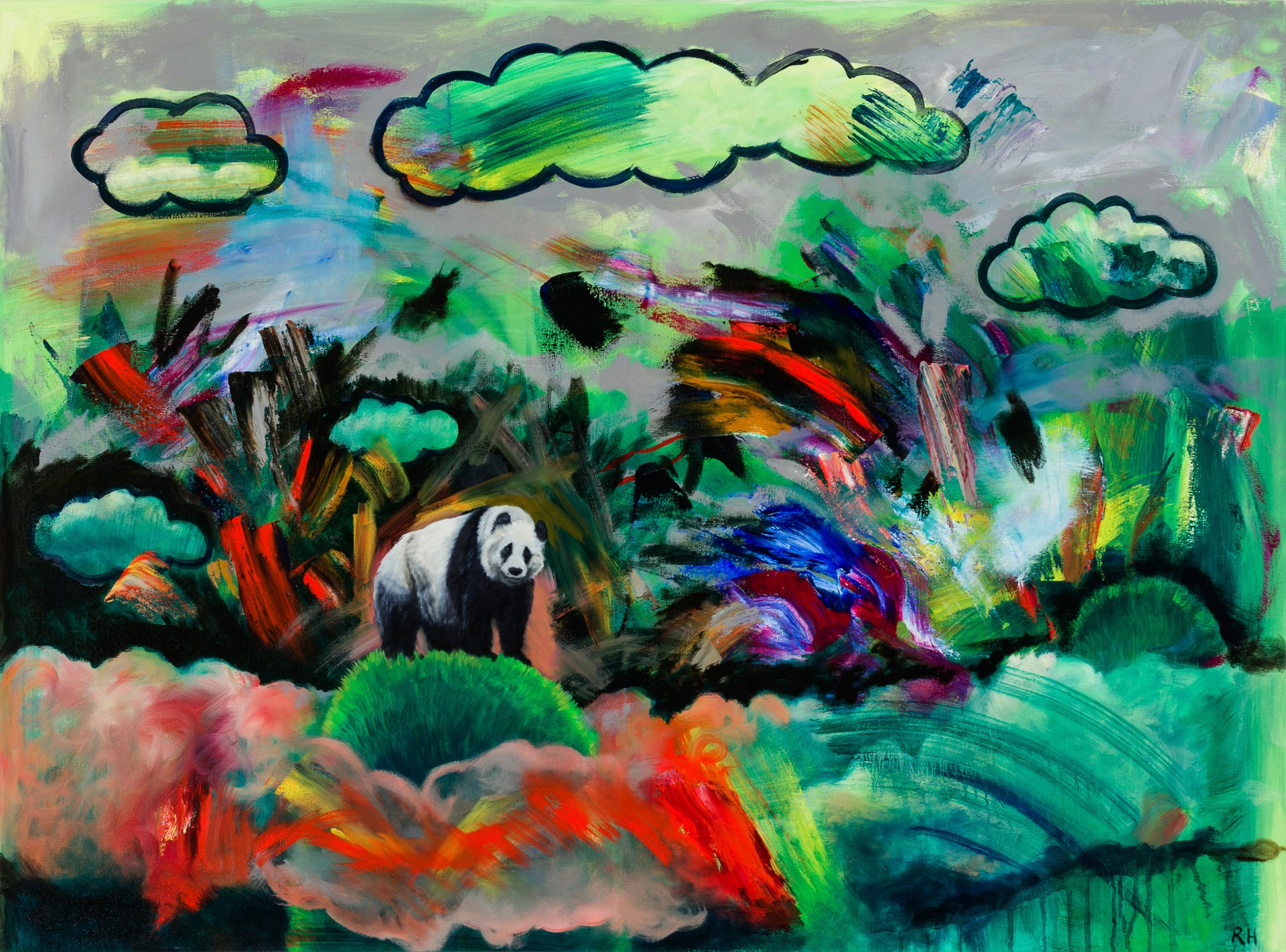 Panda in the Clouds by Robin Hextrum