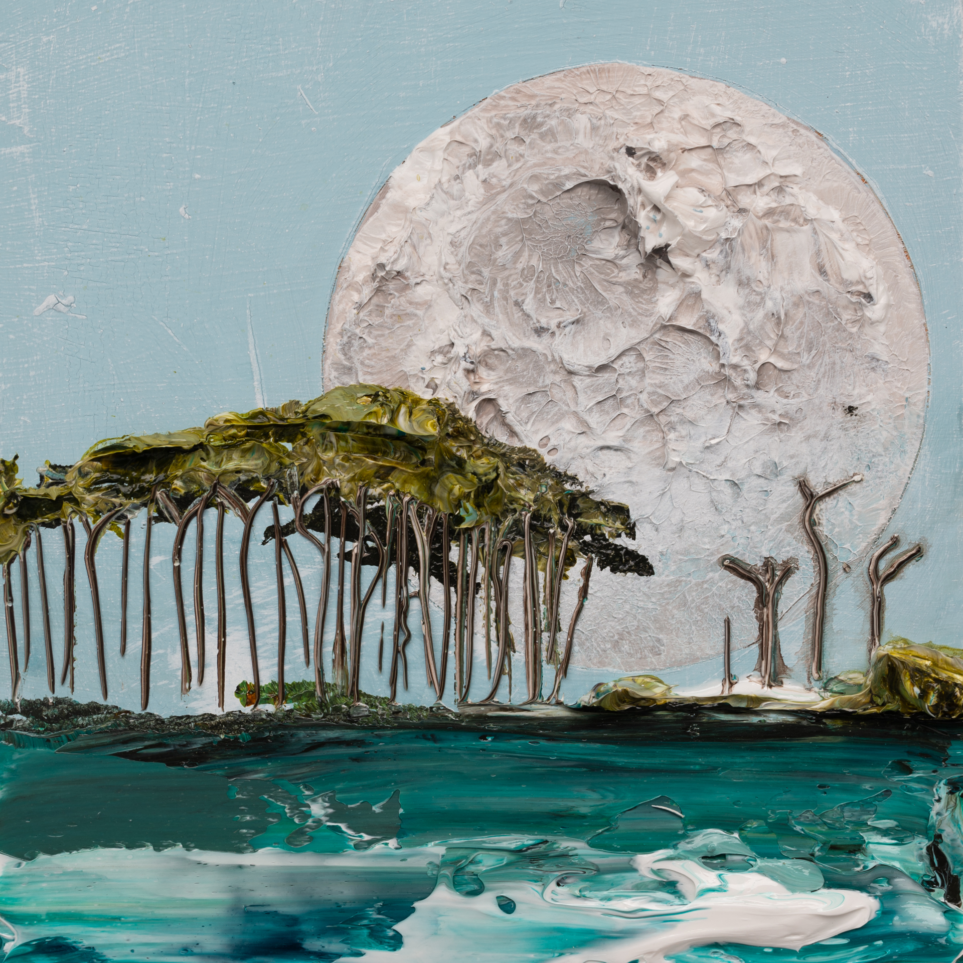 (SOLD) MOONSCAPE MS-12X12-2019-322 by JUSTIN GAFFREY