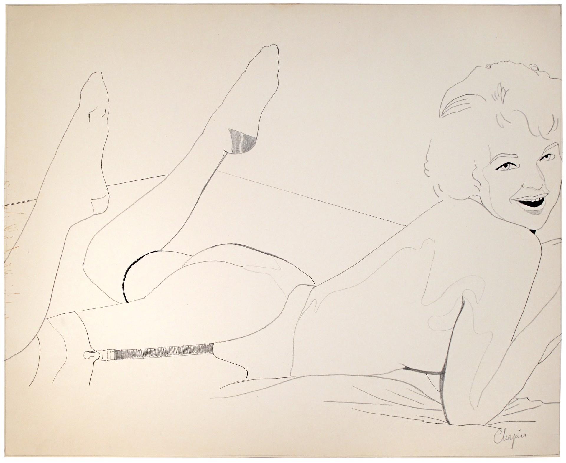 Lying Down, Legs Up by David Chapin