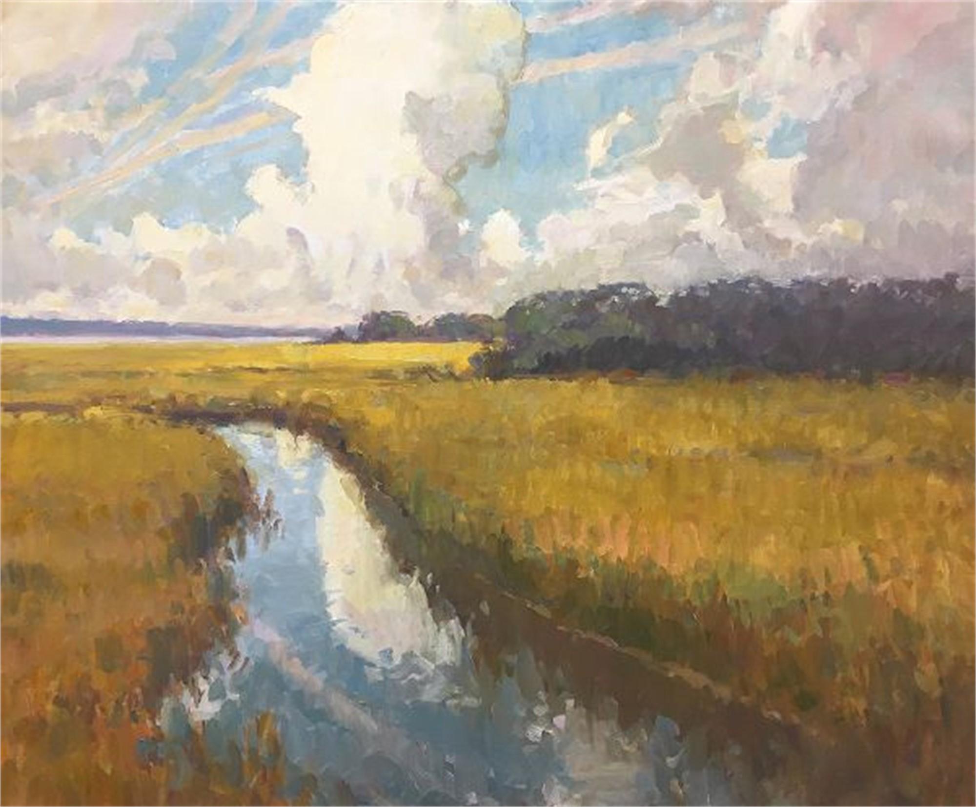Marsh Drama (Shem Creek) by Richard Oversmith