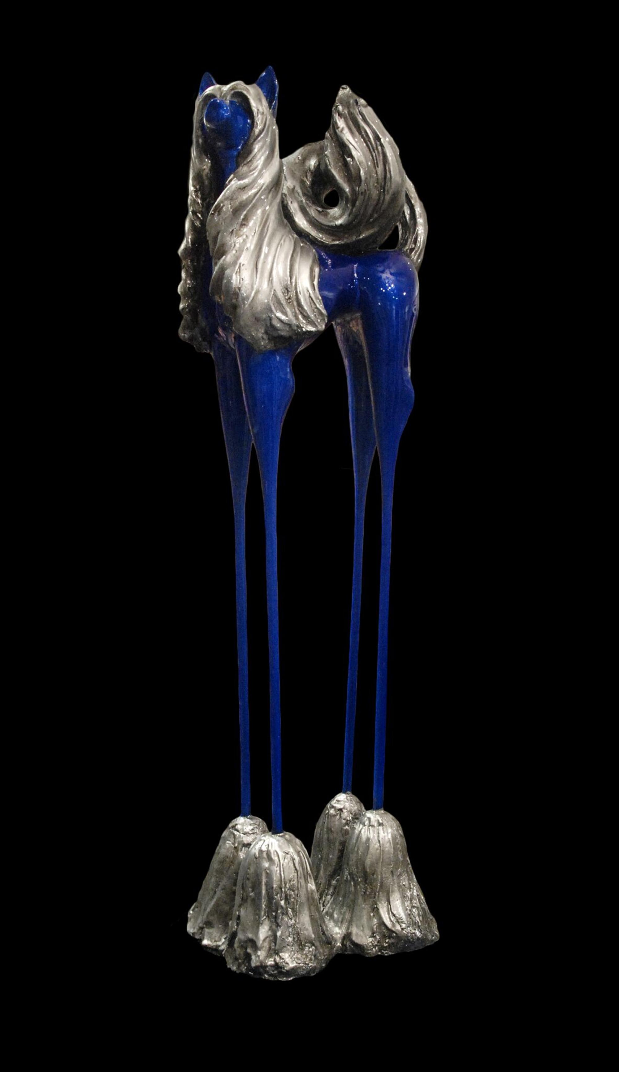 Dalinian Dog in Blue by Deb Mack
