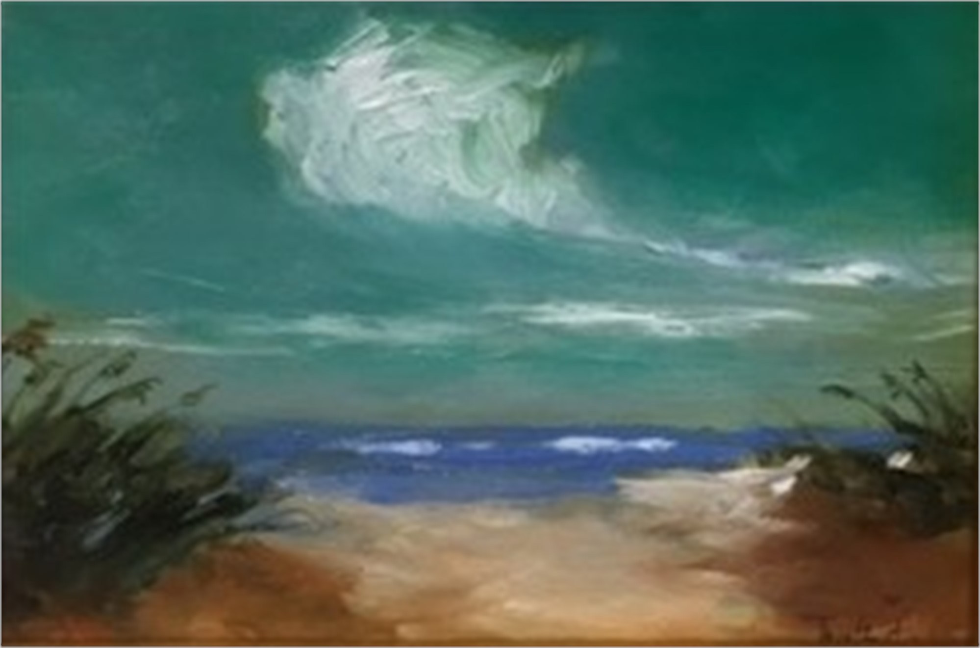 Viridian Sky Over Dunes by Jim Darlington