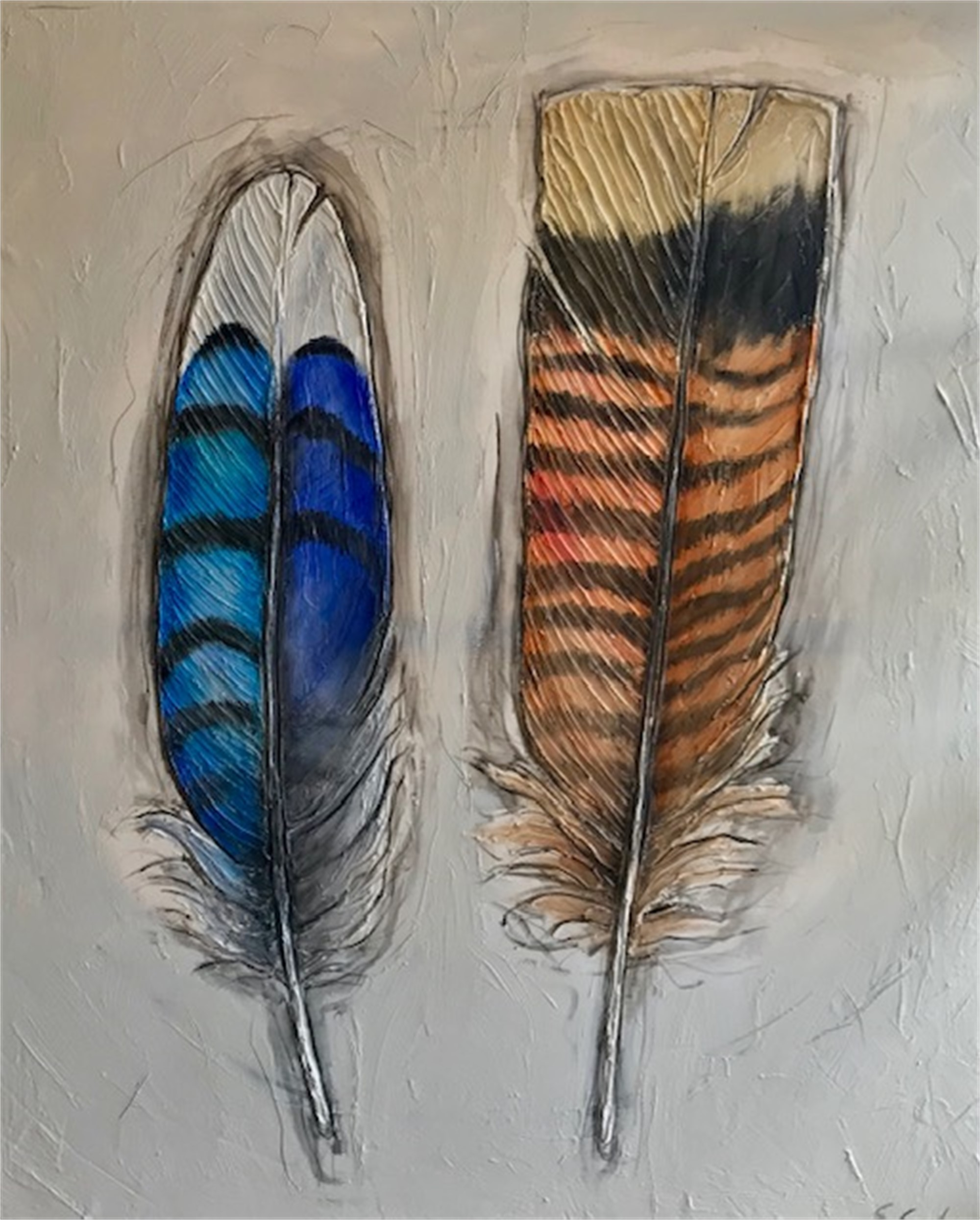 Two Feathers by Sherry Cook