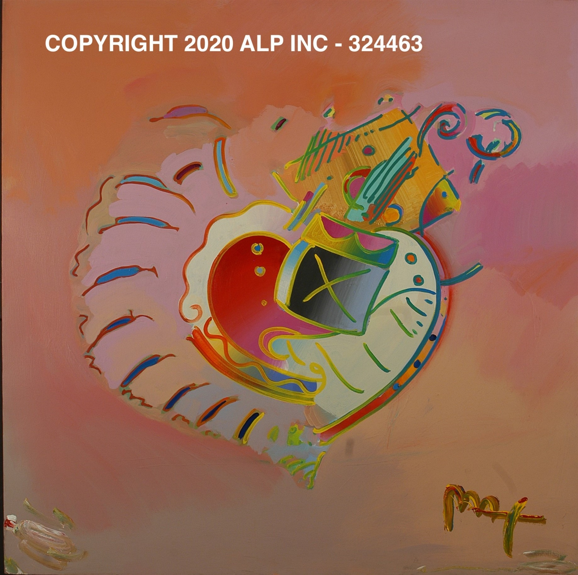 Heart: Tropical II VER. I #3 - Vintage Collection by Peter Max
