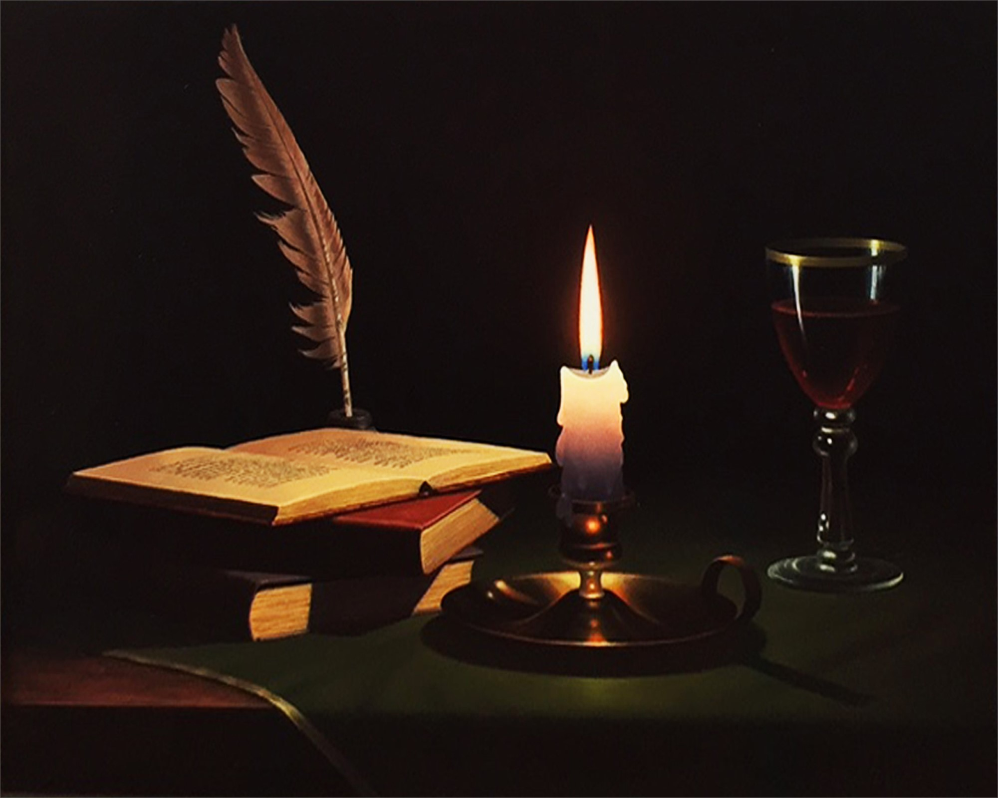 STILL LIFE WITH CANDLE by DIBERT