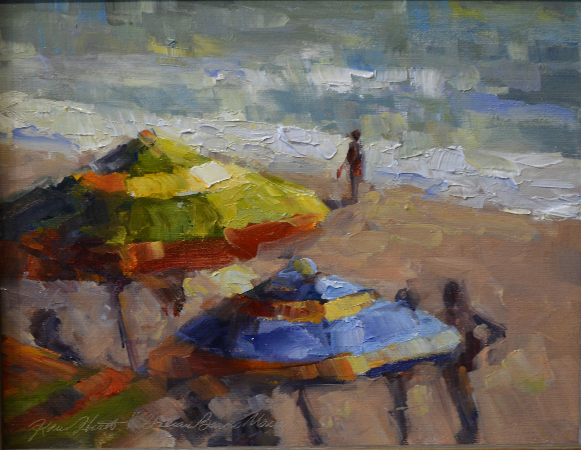 Italian Beach Morning by Karen Hewitt Hagan
